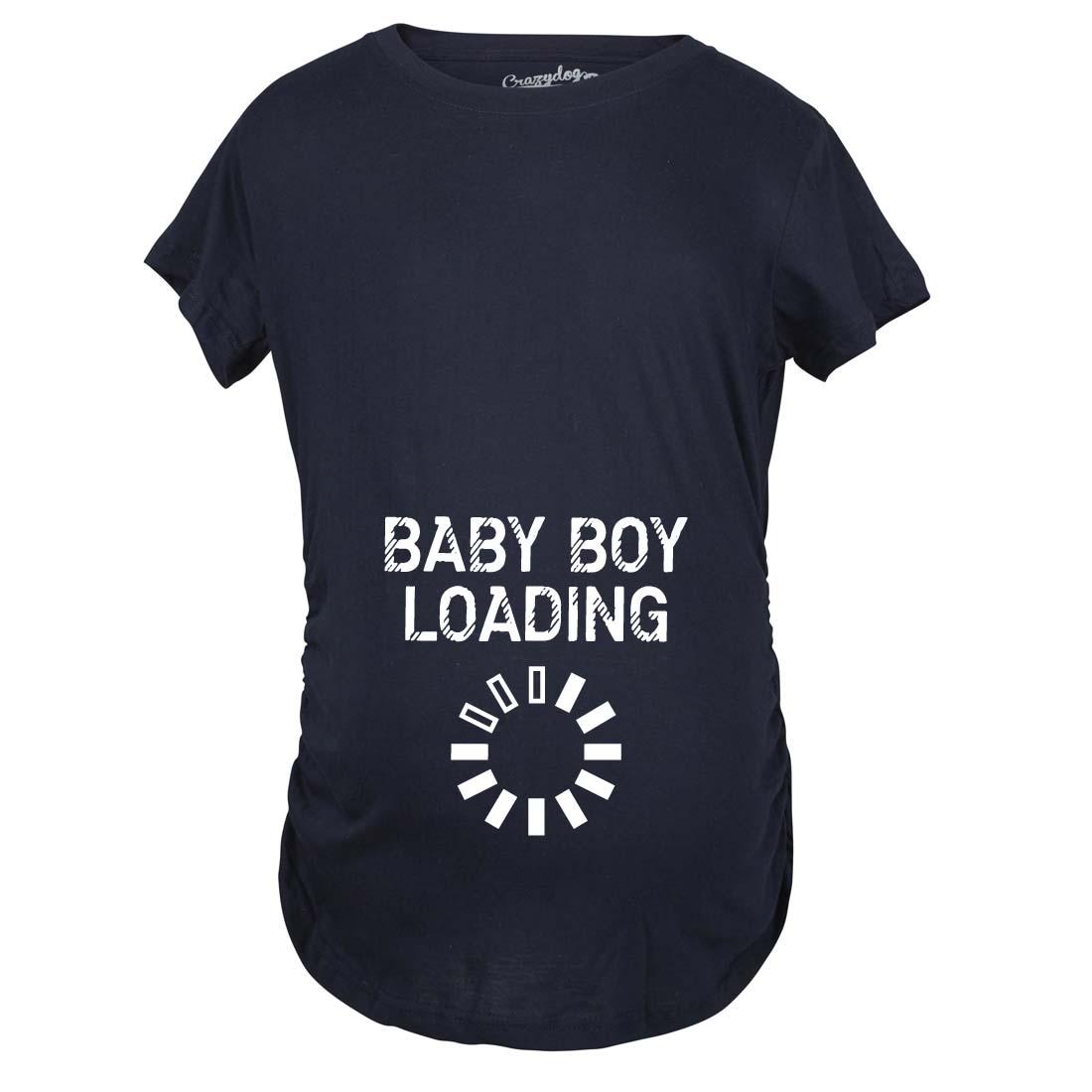 Maternity Baby Boy Loading Funny Nerdy Pregnancy ...