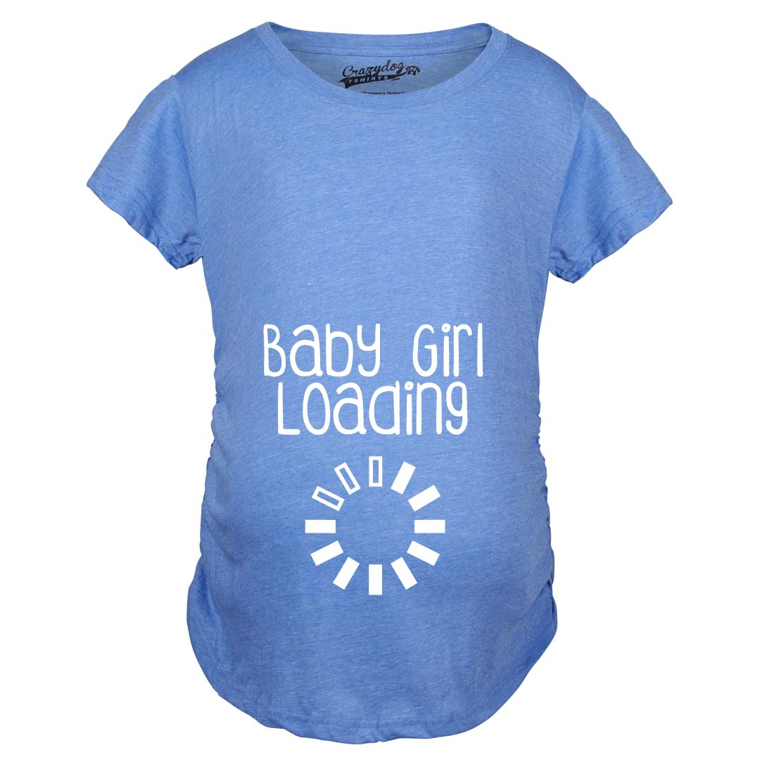 Maternity baby girl loading funny pregnancy announcement for Newborn girl t shirts