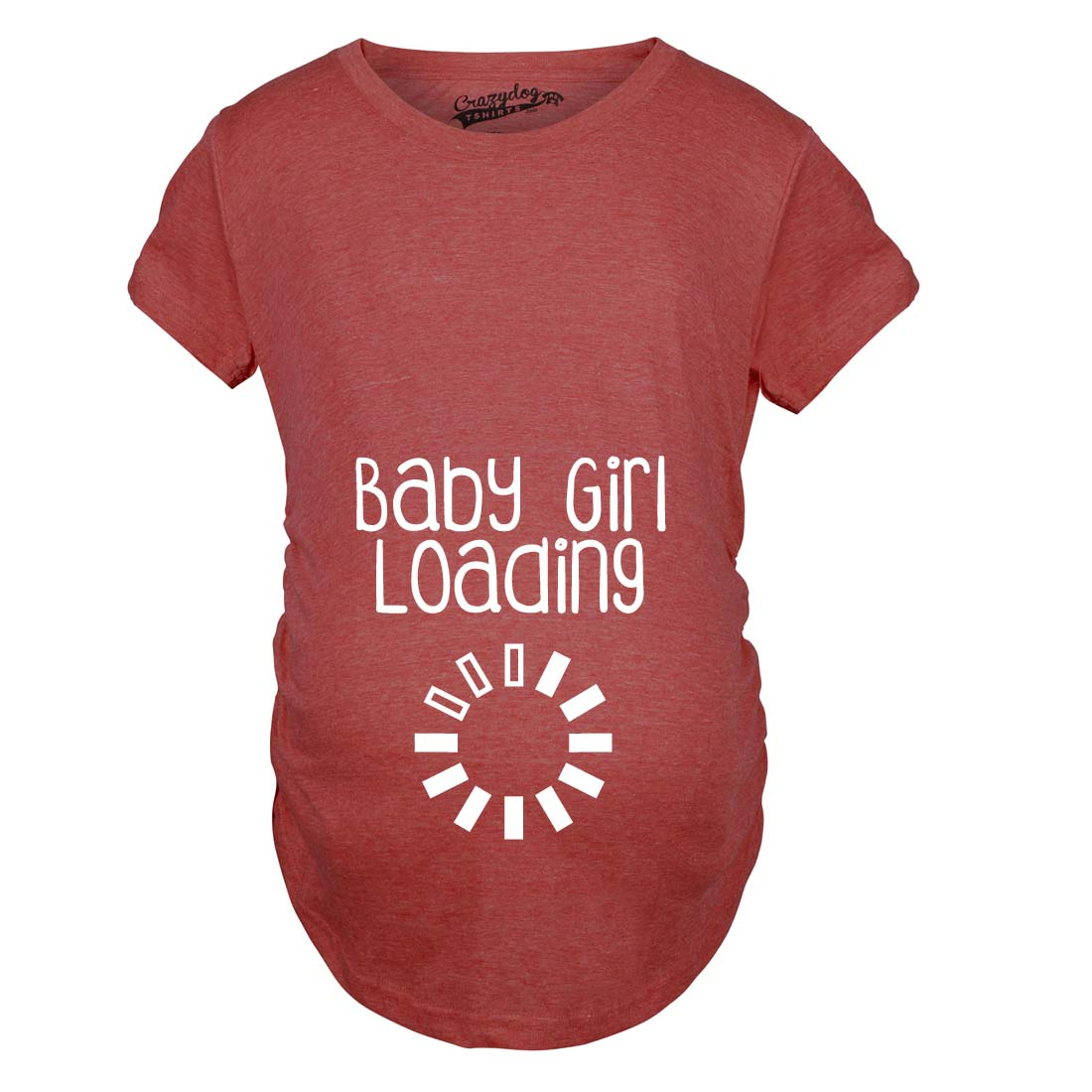 Maternity Baby Girl Loading Funny Pregnancy Announcement Baby Bump – T Shirt Baby Announcement