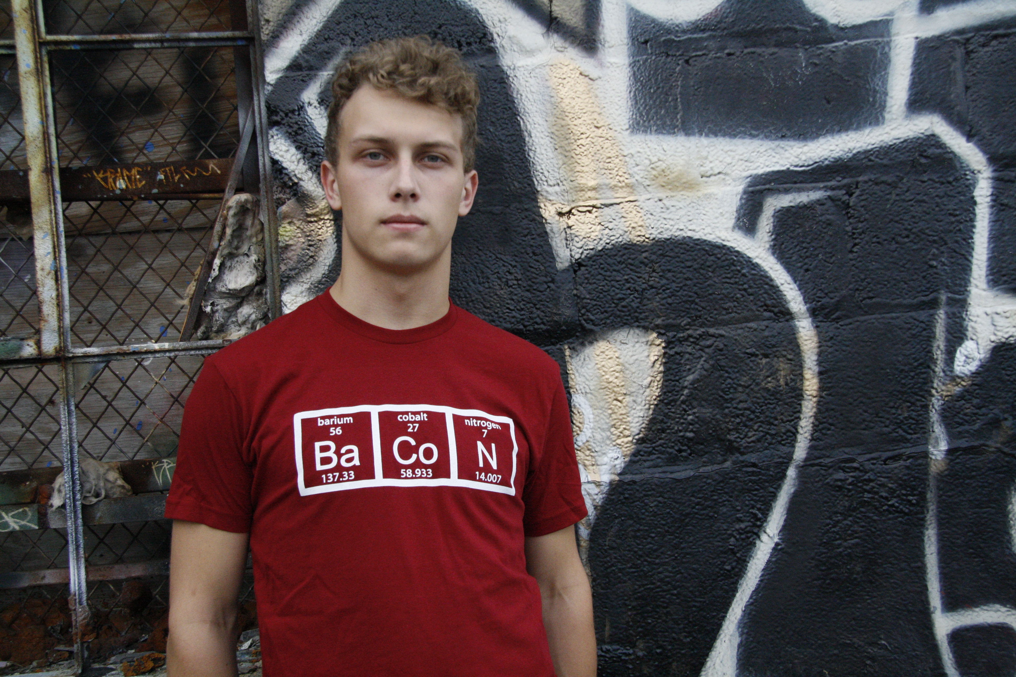 Mens The Chemistry Of Bacon T Shirt Funny Brunch Periodic Table Science Tee