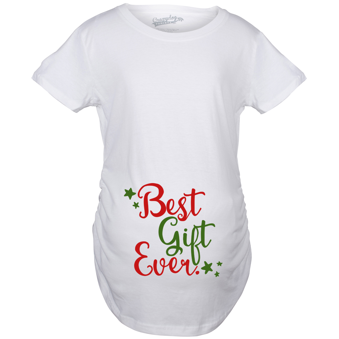 Maternity best gift ever t shirt funny christmas bump for Funny christmas maternity t shirts