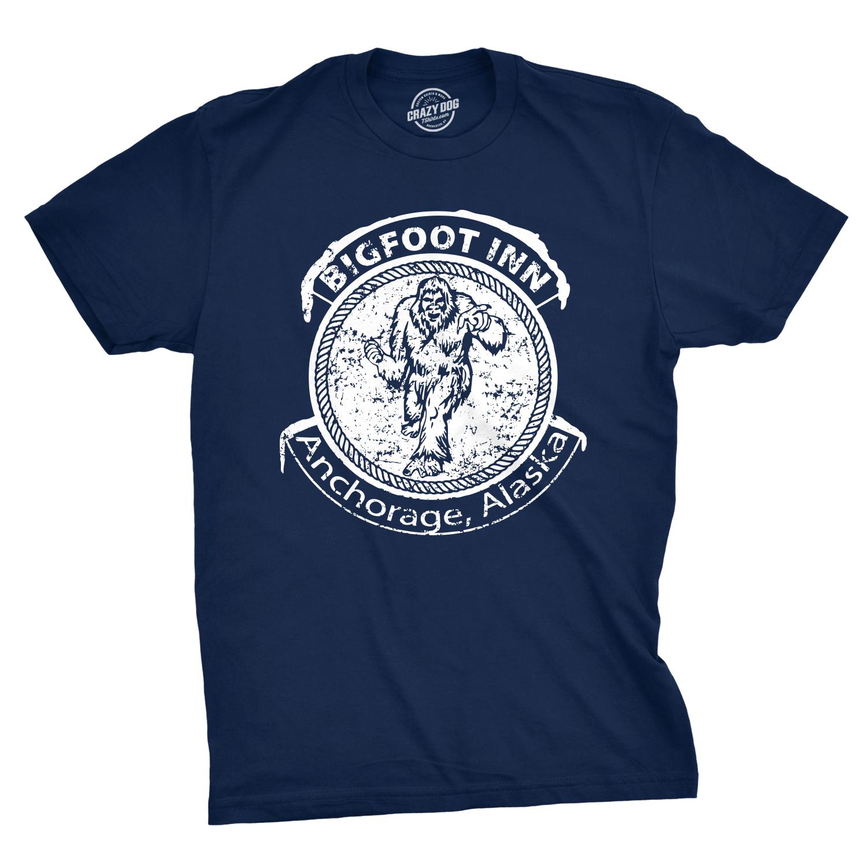 23a5d2e6 Big Foot Inn T Shirt Funny Dive Bar Pub Sasquatch Drinking Graphic Tee  (navy) M