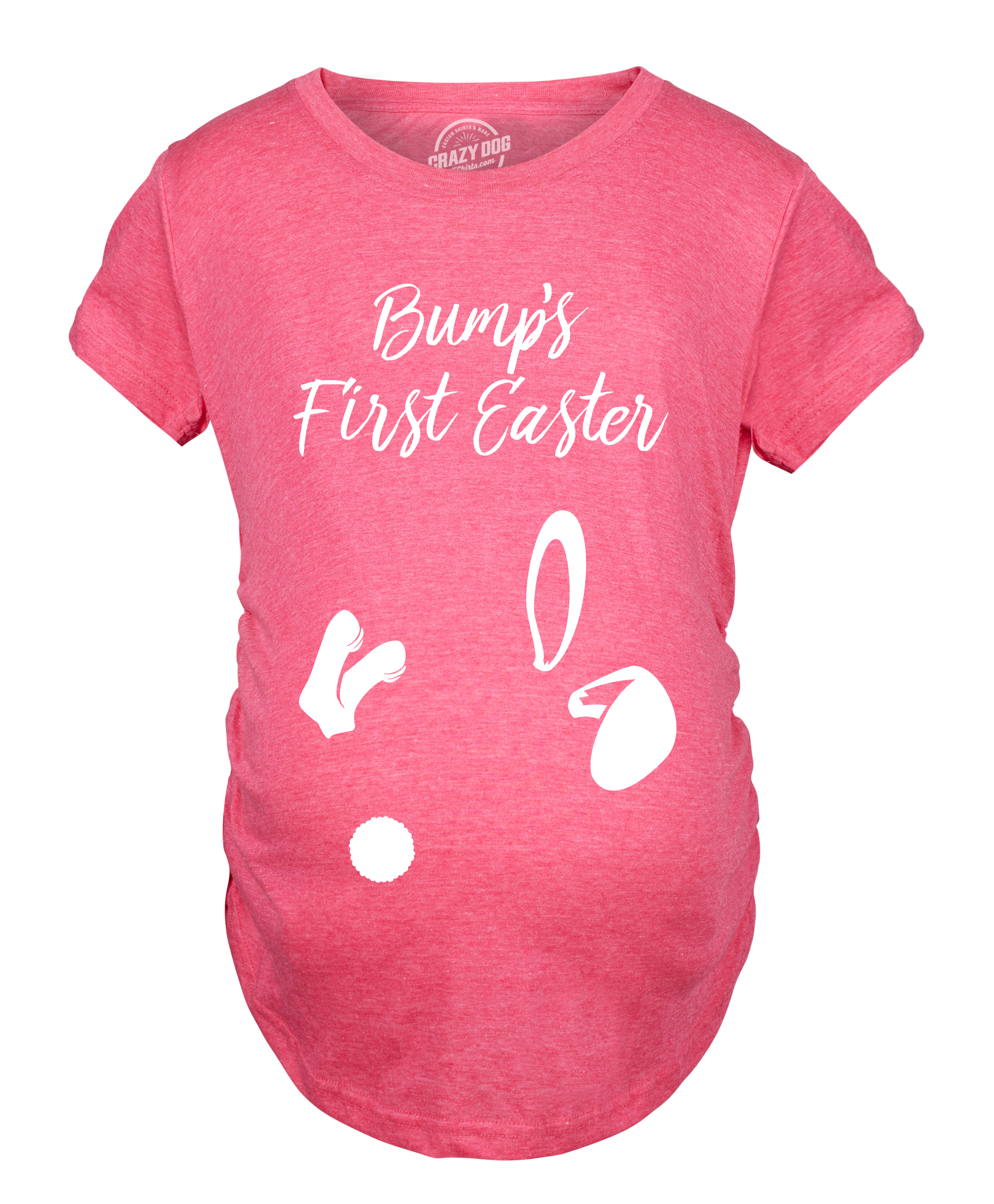 1e33b0e233542 Maternity Bumps First Easter Tshirt Adorable Pregnancy Pastel Bunny Tee  (Heather Pink) - S