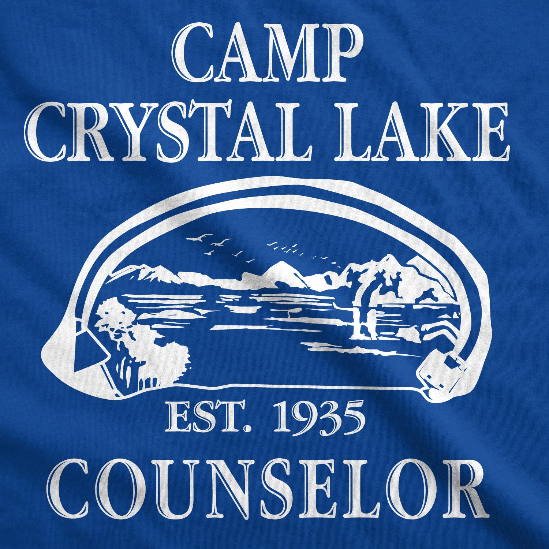 Mens-Camp-Crystal-Lake-T-shirt-Funny-Shirts-Camping-Vintage-Horror-Novelty-Tees thumbnail 15