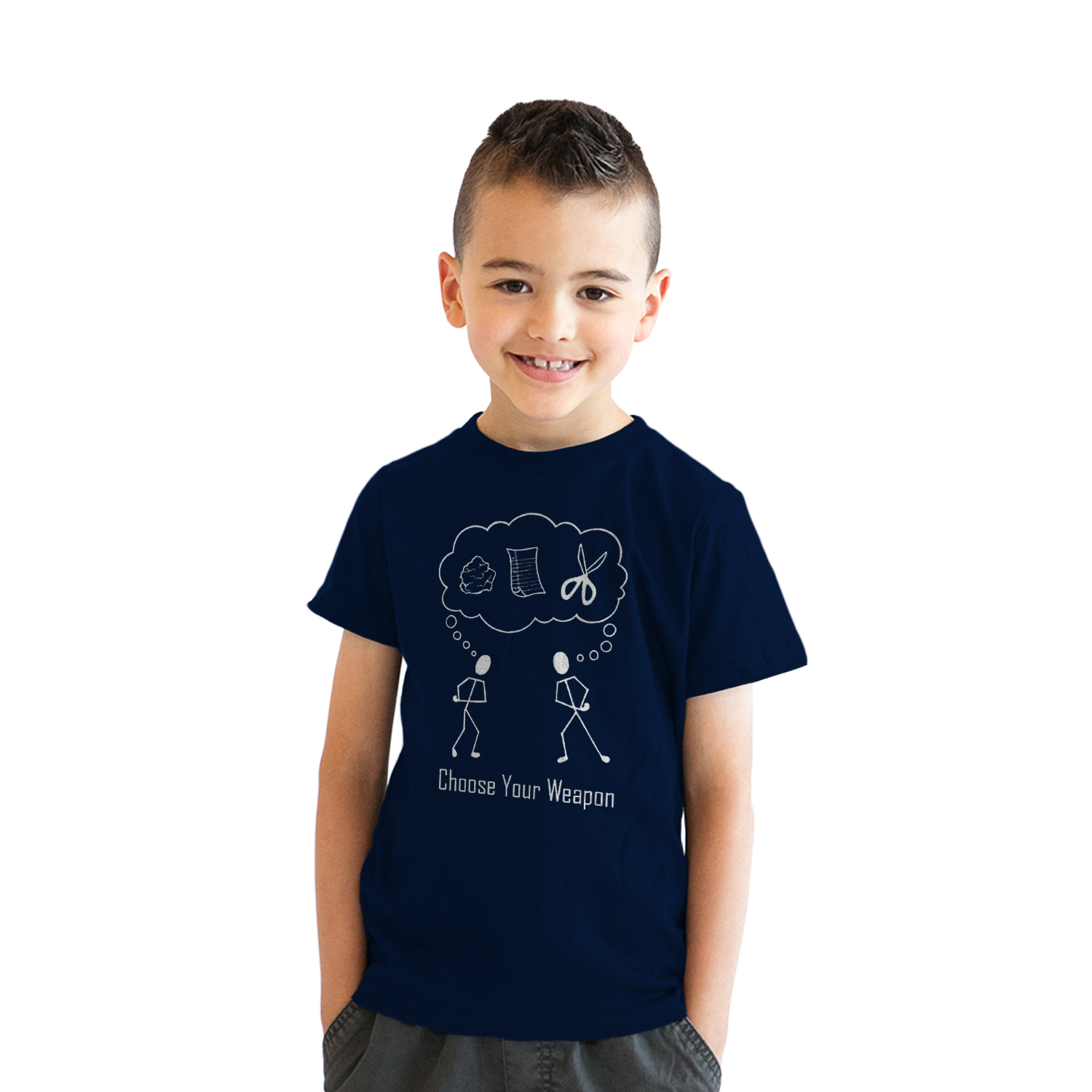 0a2dae74 Youth Choose Your Weapon T-Shirt Rock Paper Scissors Shirt for Kids (blue) S