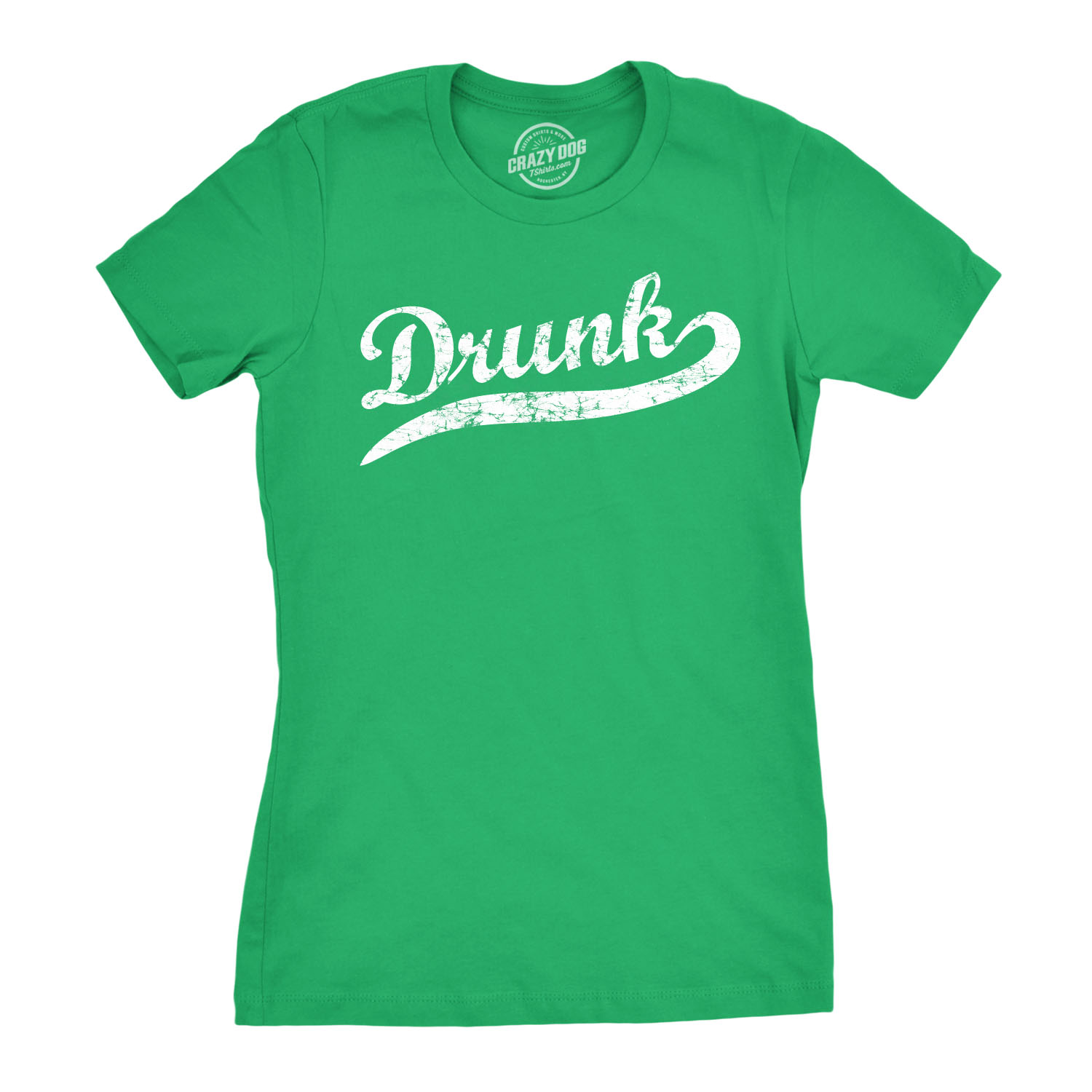 29ff7035 Womens Drunk T Shirt funny St Patricks Day Drinking Tee for Women (green) S