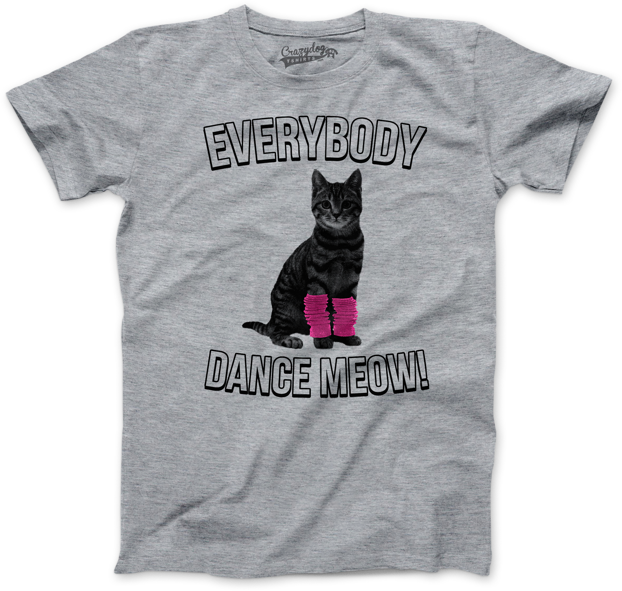 9e1b1364 Youth Everybody Dance Meow T Shirt Funny Kitty Cat Tee for Kids (grey) S