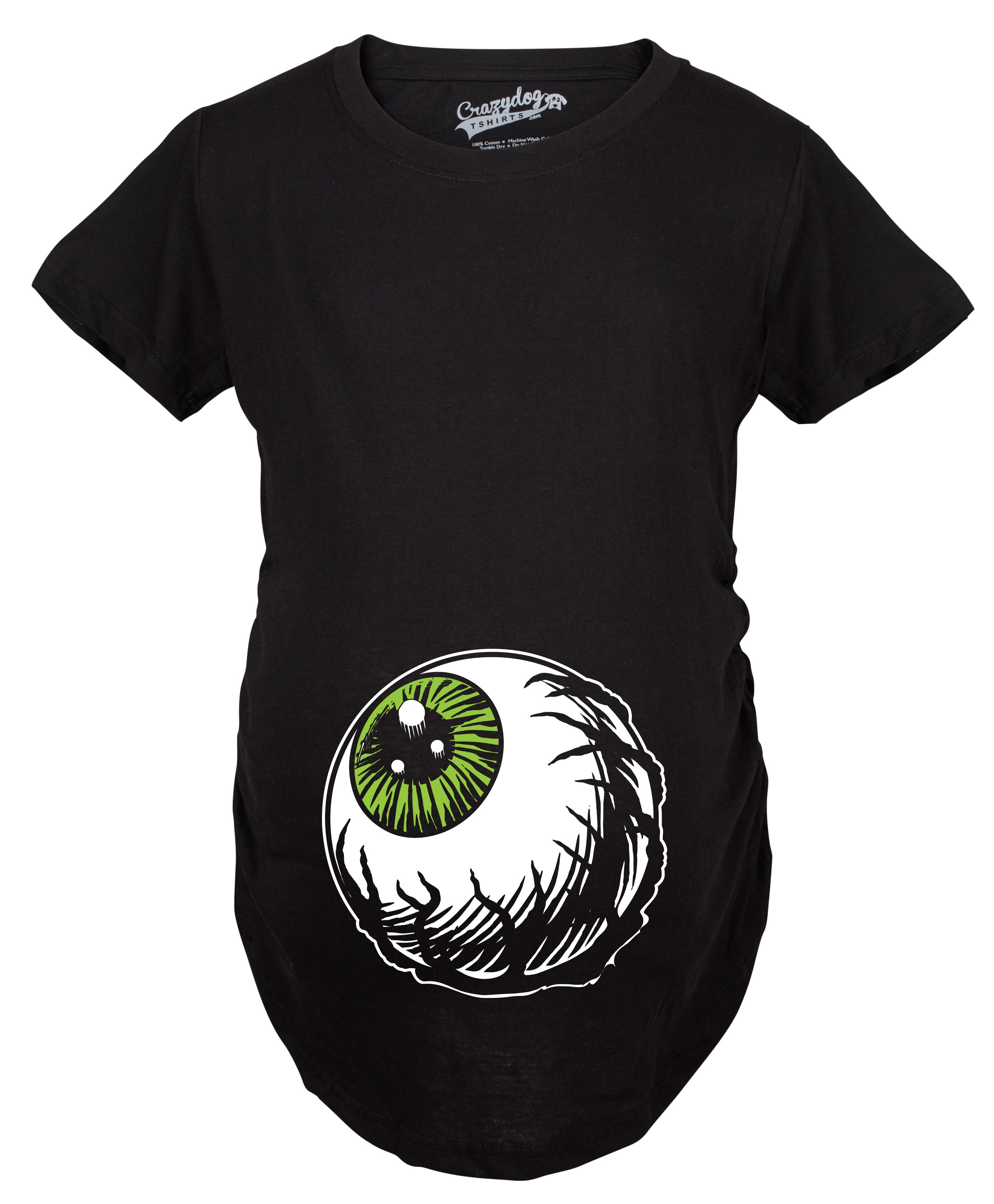 maternity eyeball funny halloween costume tee pregnancy announcement baby bump t shirt black s