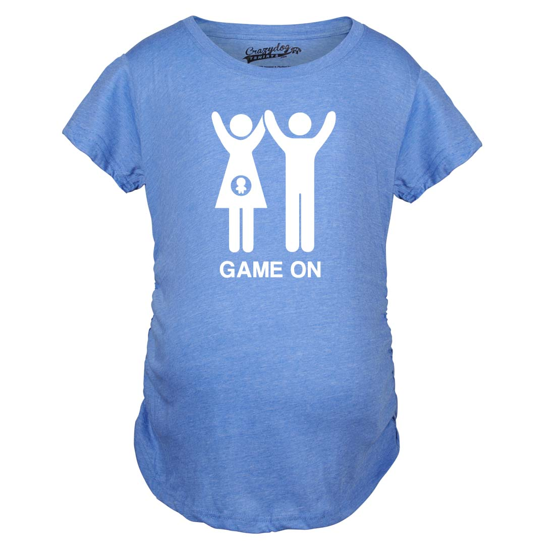 Maternity Game On Couple Tee Expecting Baby Bump Pregnancy ...