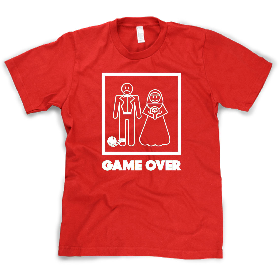 Game Over T-shirt - Funny Marriage Bride Groom Royal Tee ...