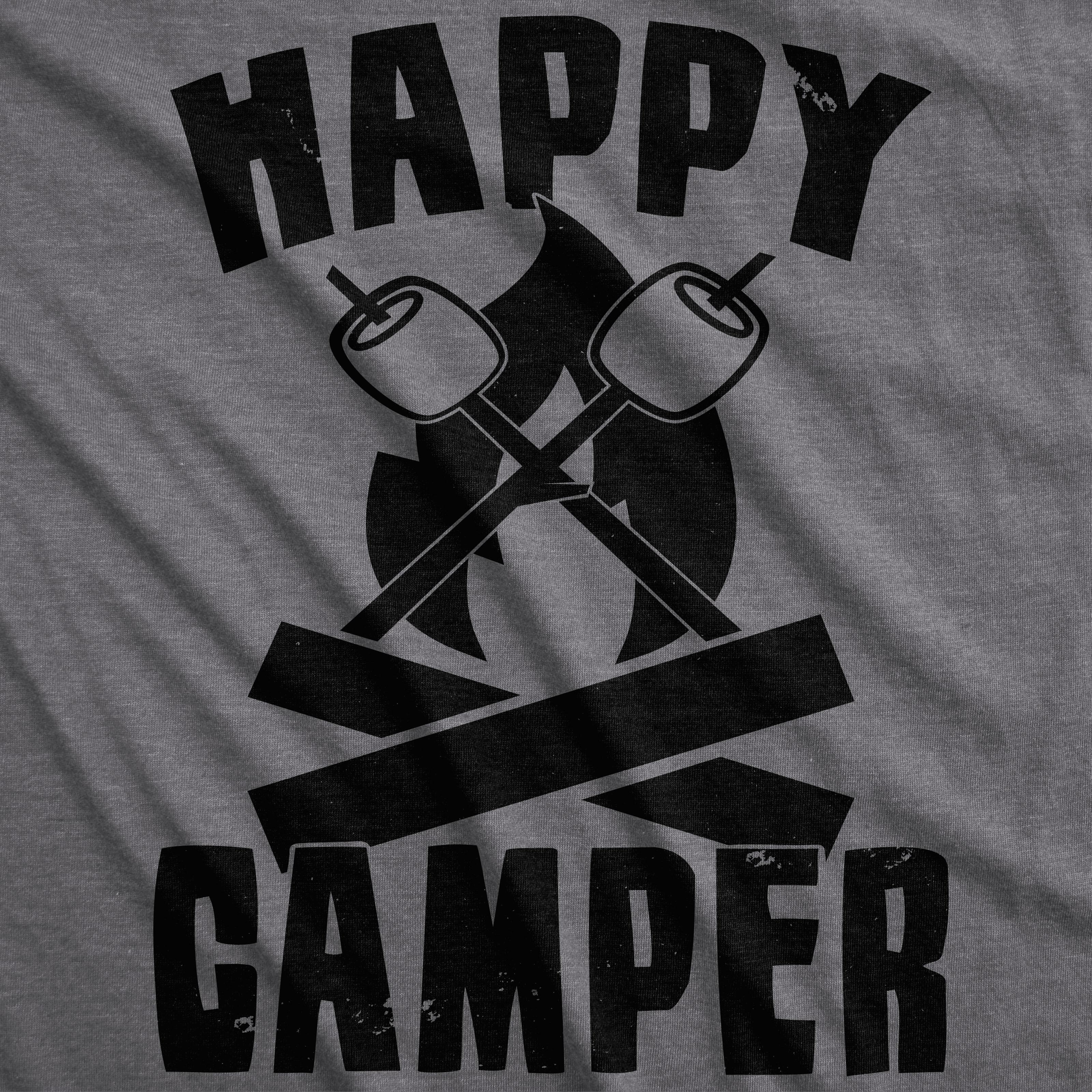 dffc510fa2 Mens Happy Camper Shirt Funny Camping Shirts Cool Vintage Tees Retro ...
