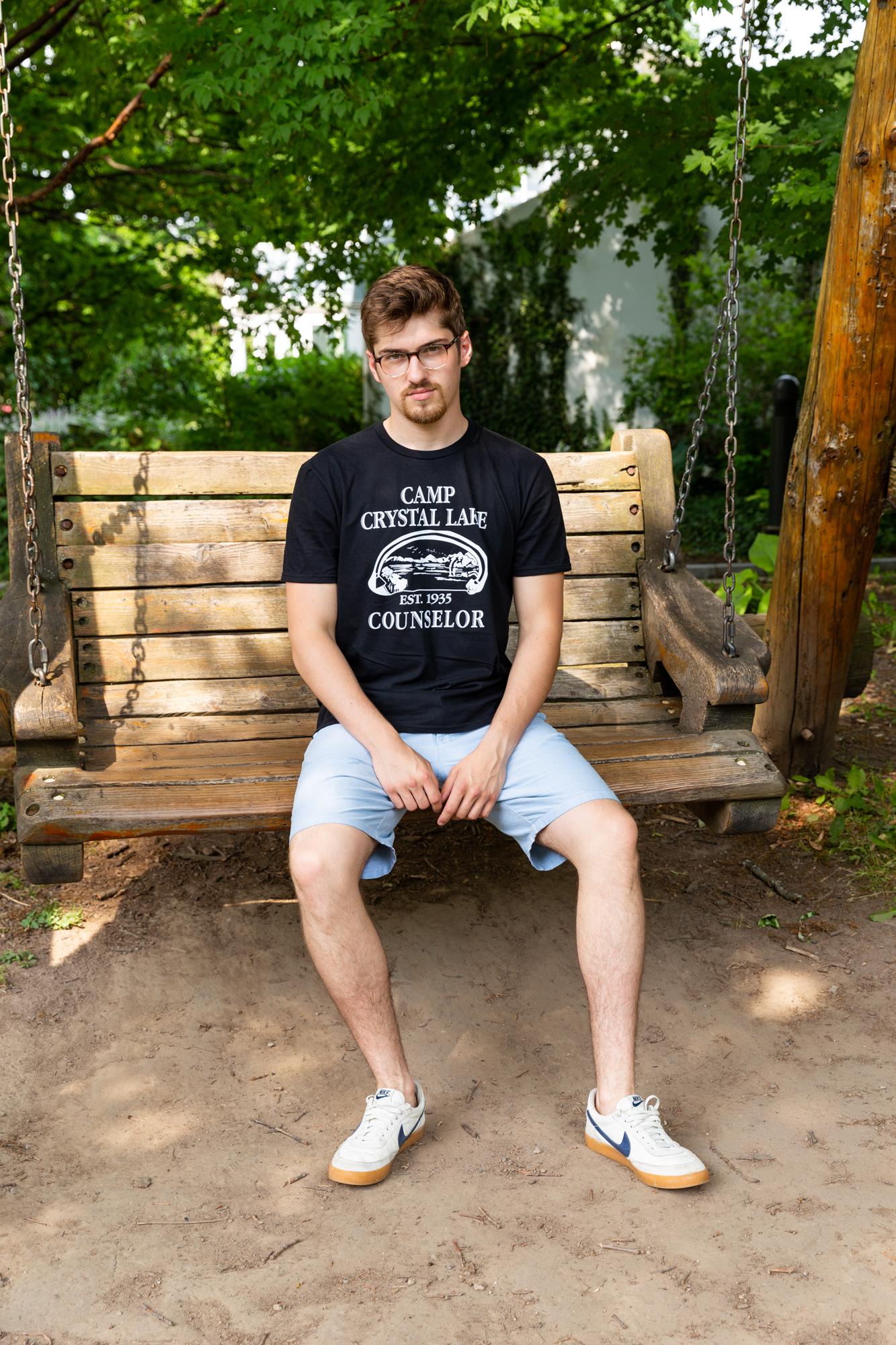 Mens-Camp-Crystal-Lake-T-shirt-Funny-Shirts-Camping-Vintage-Horror-Novelty-Tees thumbnail 10