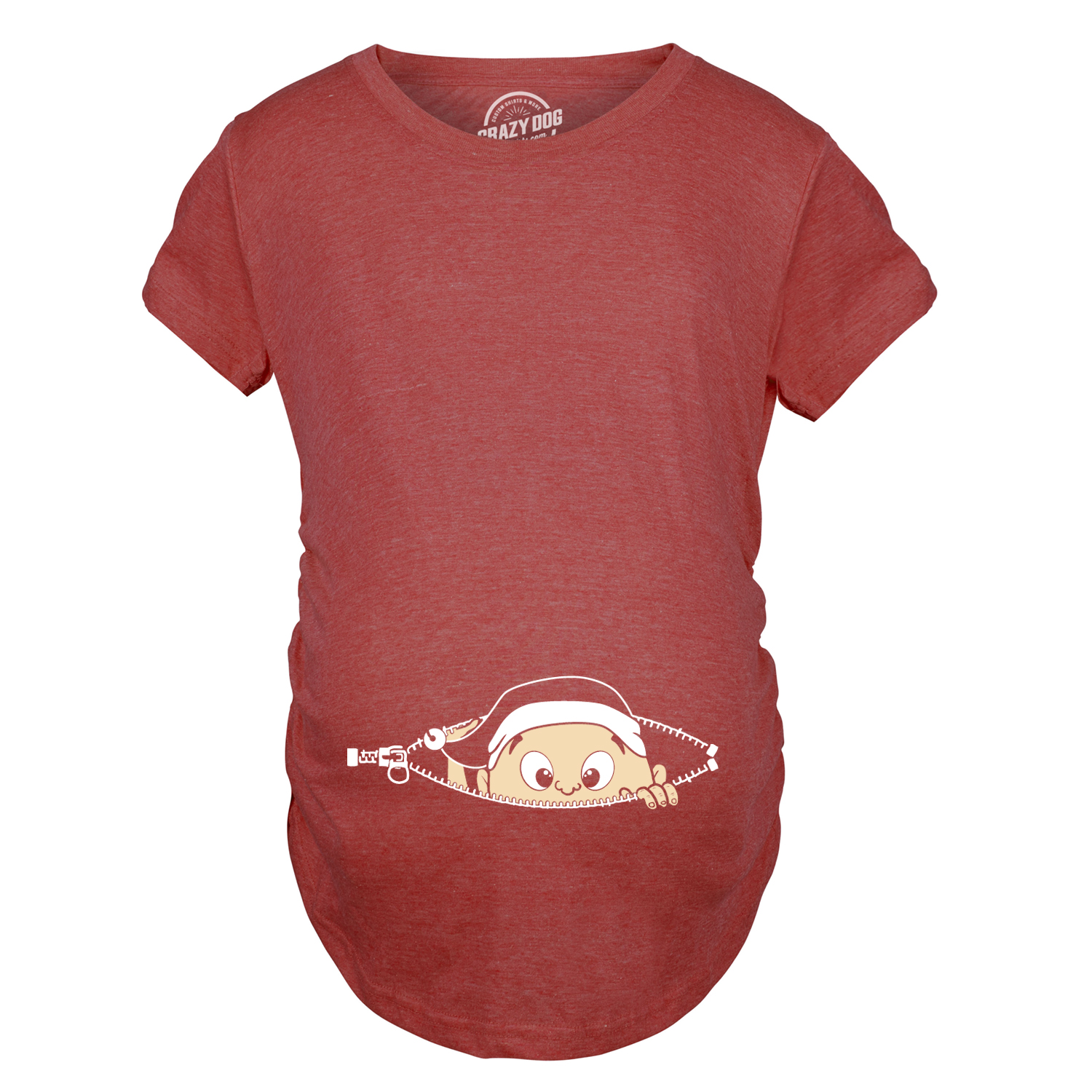 Maternity christmas baby peeking elf funny holiday for Funny christmas maternity t shirts