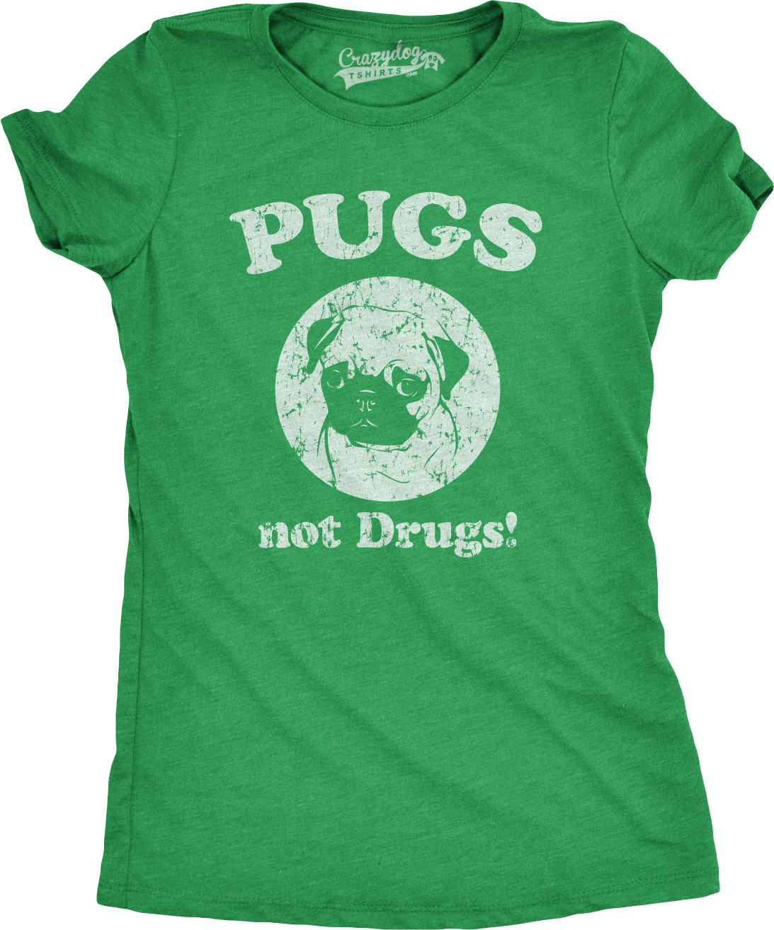 Womens Pugs Not Drugs T Shirt Funny Anti-Drug Dog Tee For ...
