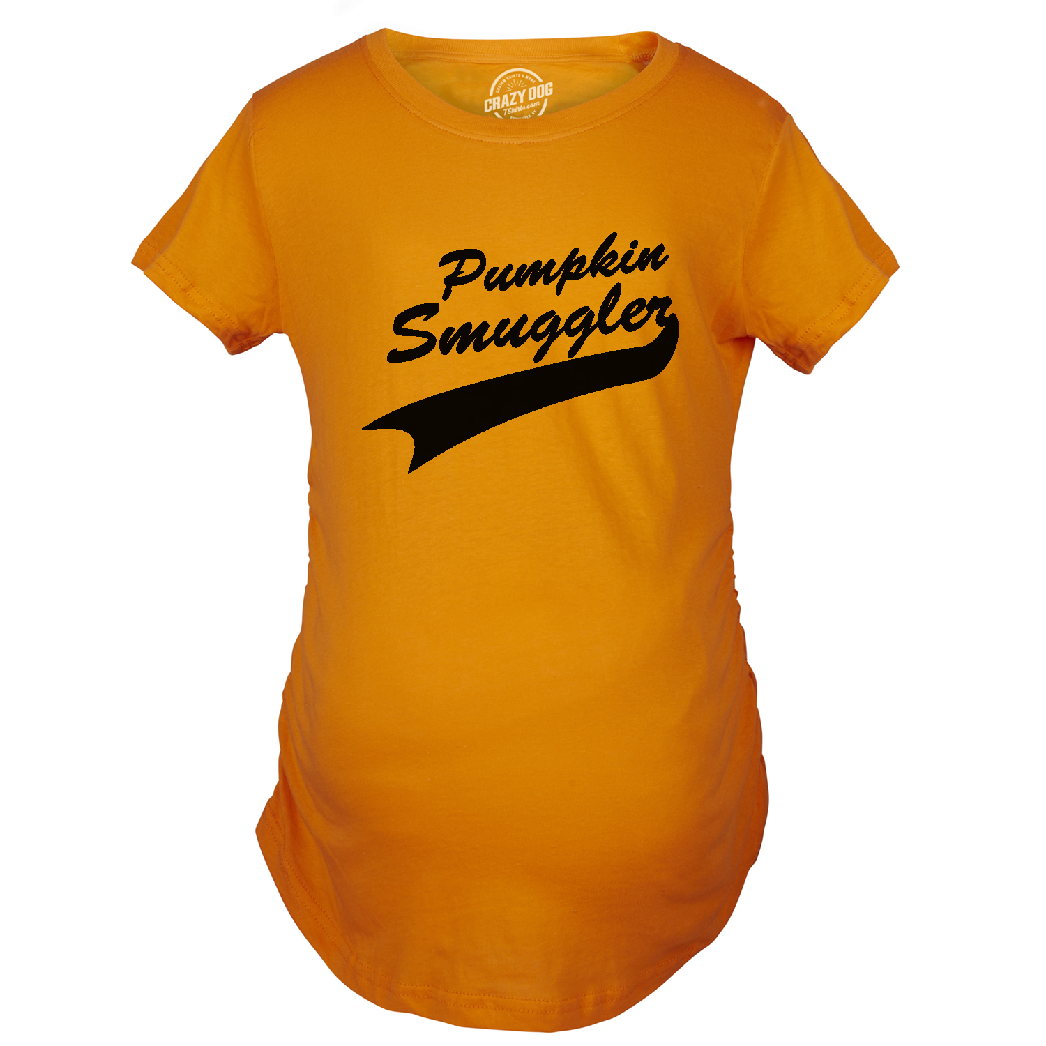 6d6b39f36145e Womens Pumpkin Smuggler Orange Halloween Maternity Funny Pregnancy T Shirt  (orange) S