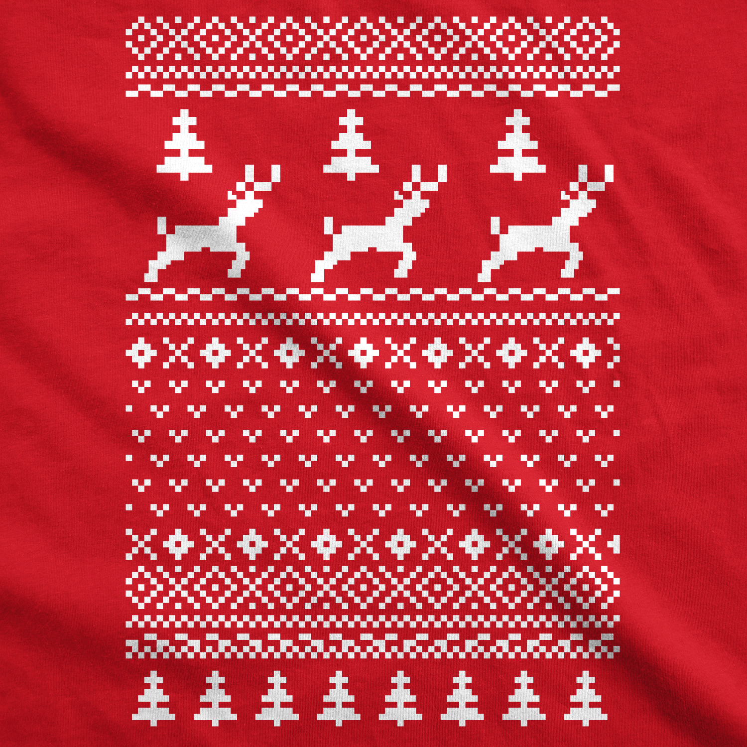 Ugly Christmas Sweater Pattern.Details About Reindeer Ugly Christmas Sweater T Shirt Funny Holiday Party Vintage Pattern Tee