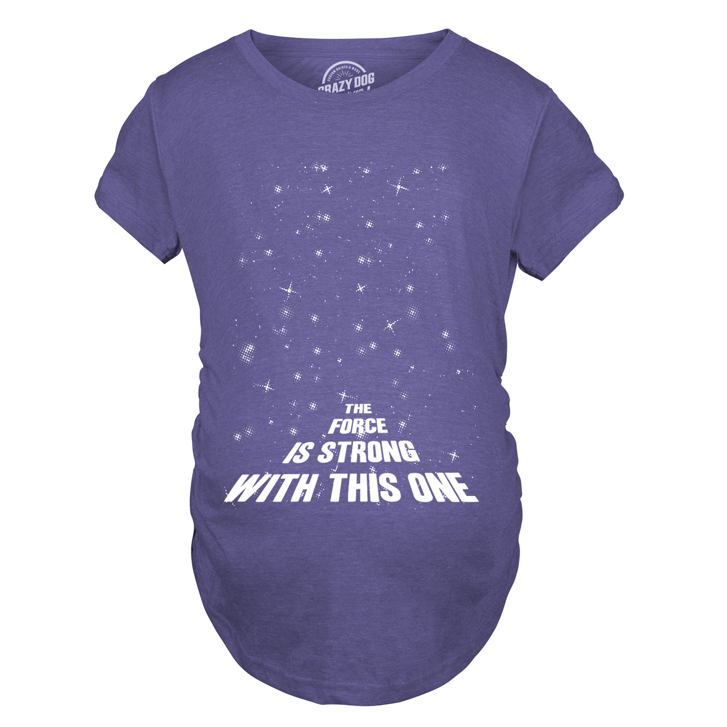 Maternity Force Is Strong Funny Pregnancy T-Shirt For Expecting Mothers