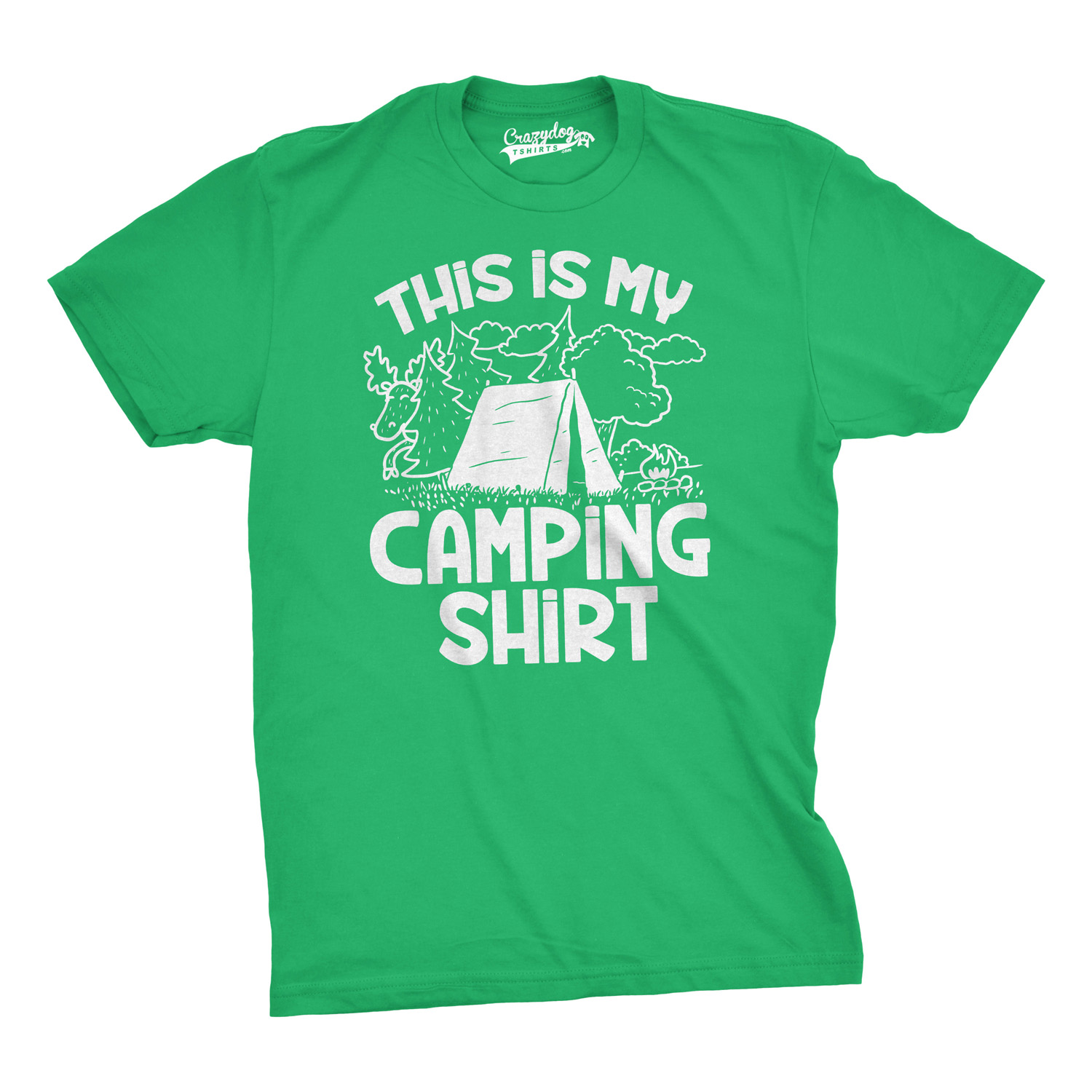 46480c67f0 Mens This Is My Camping Shirt Funny Summer Tent Hiking Outdoor Tee For Guys  (Green) - S
