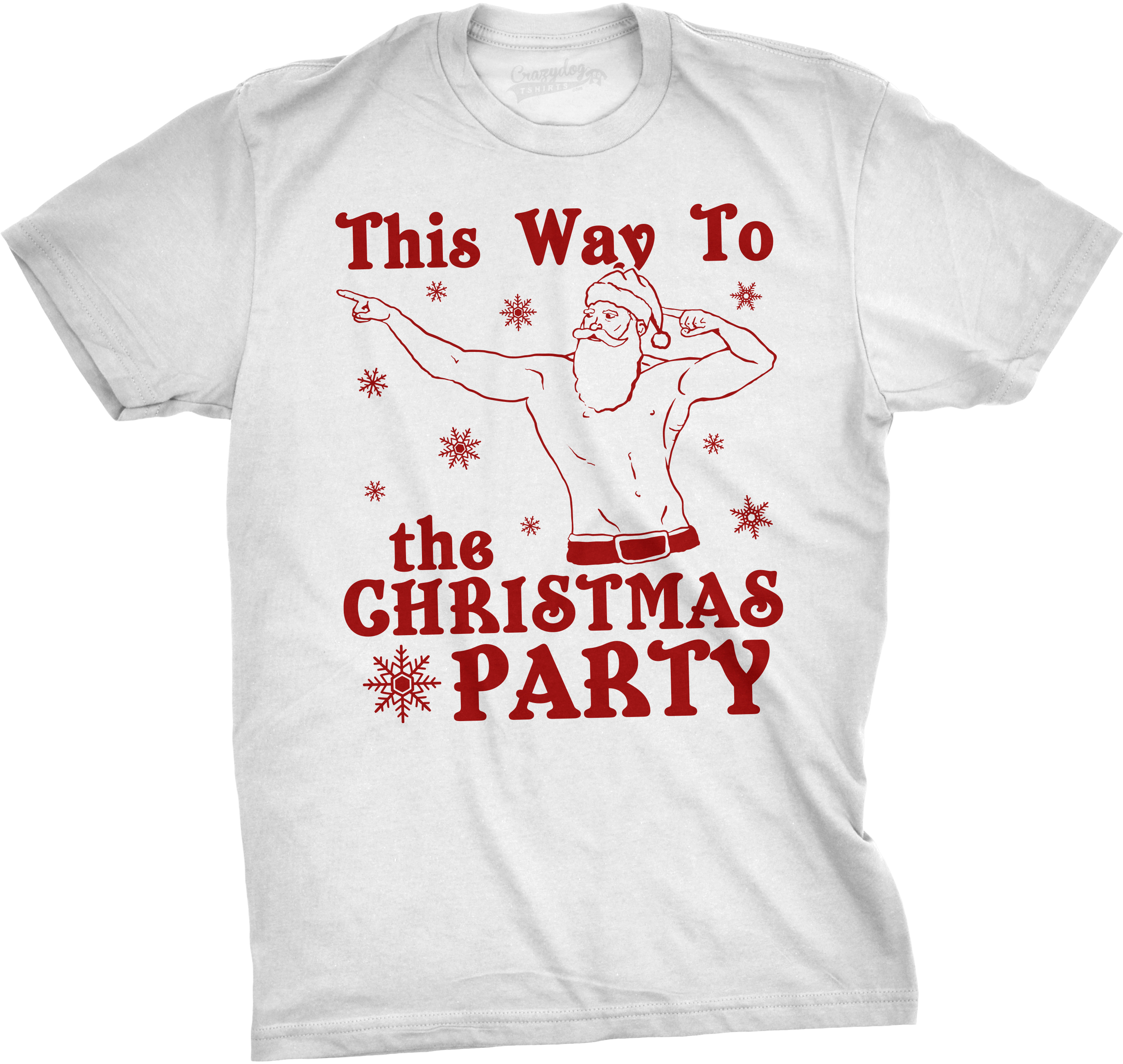 Mens This Way To The Christmas Party Funny Fit Santa ...