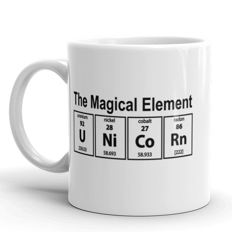 Unicorn The Magical Element Coffee Mug Funny Science Ceramic Cup 11oz 192704344532 Ebay