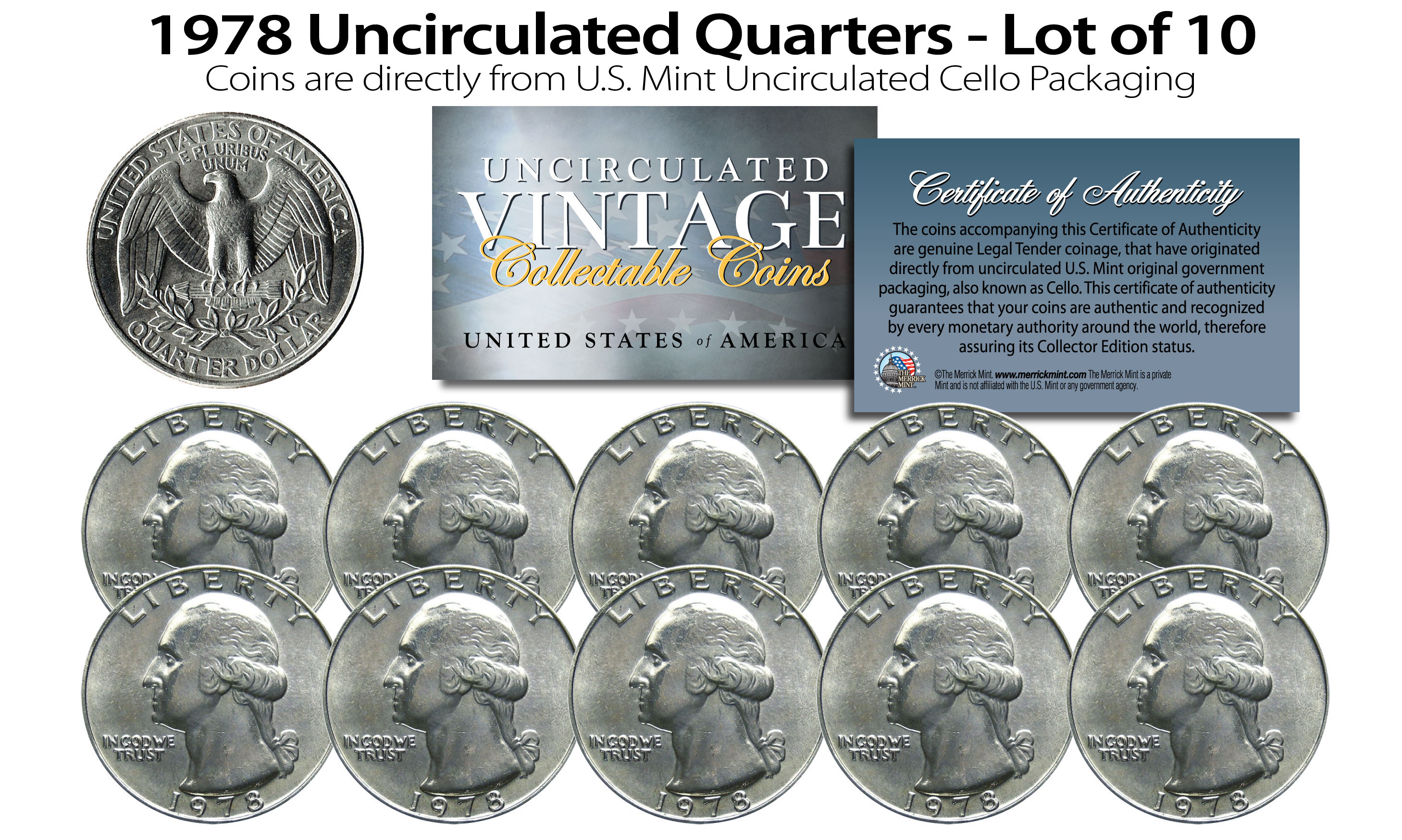 MINT 1978 UNCIRCULATED Genuine U.S MINT SETS ISSUED BY U.S