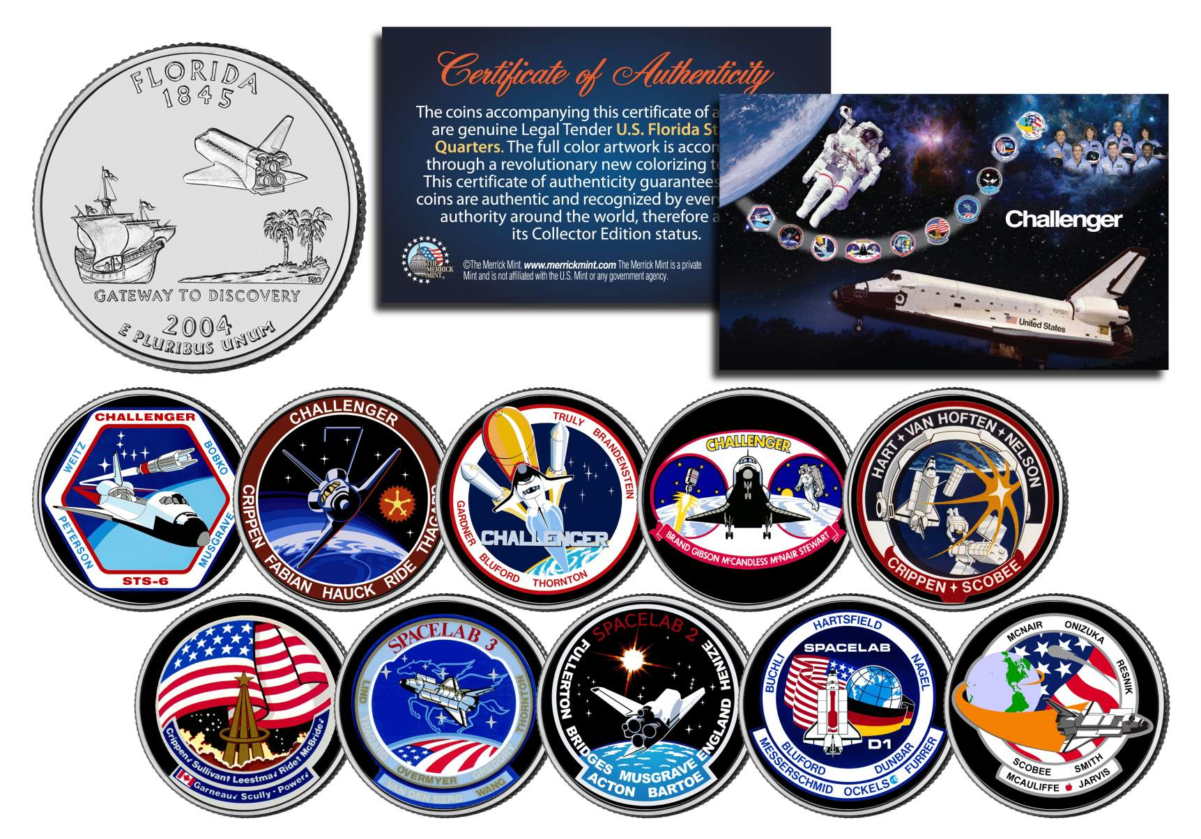 space shuttle challenger coins - photo #34