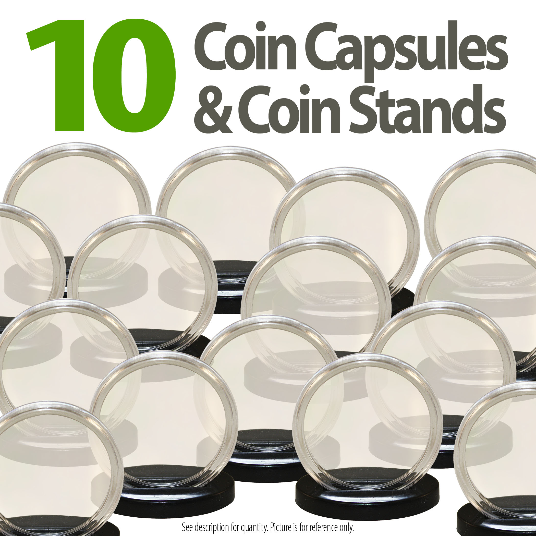 10 CENTS 5 AIRTITE COIN HOLDER CAPSULE BLACK RING 18 MM DIME