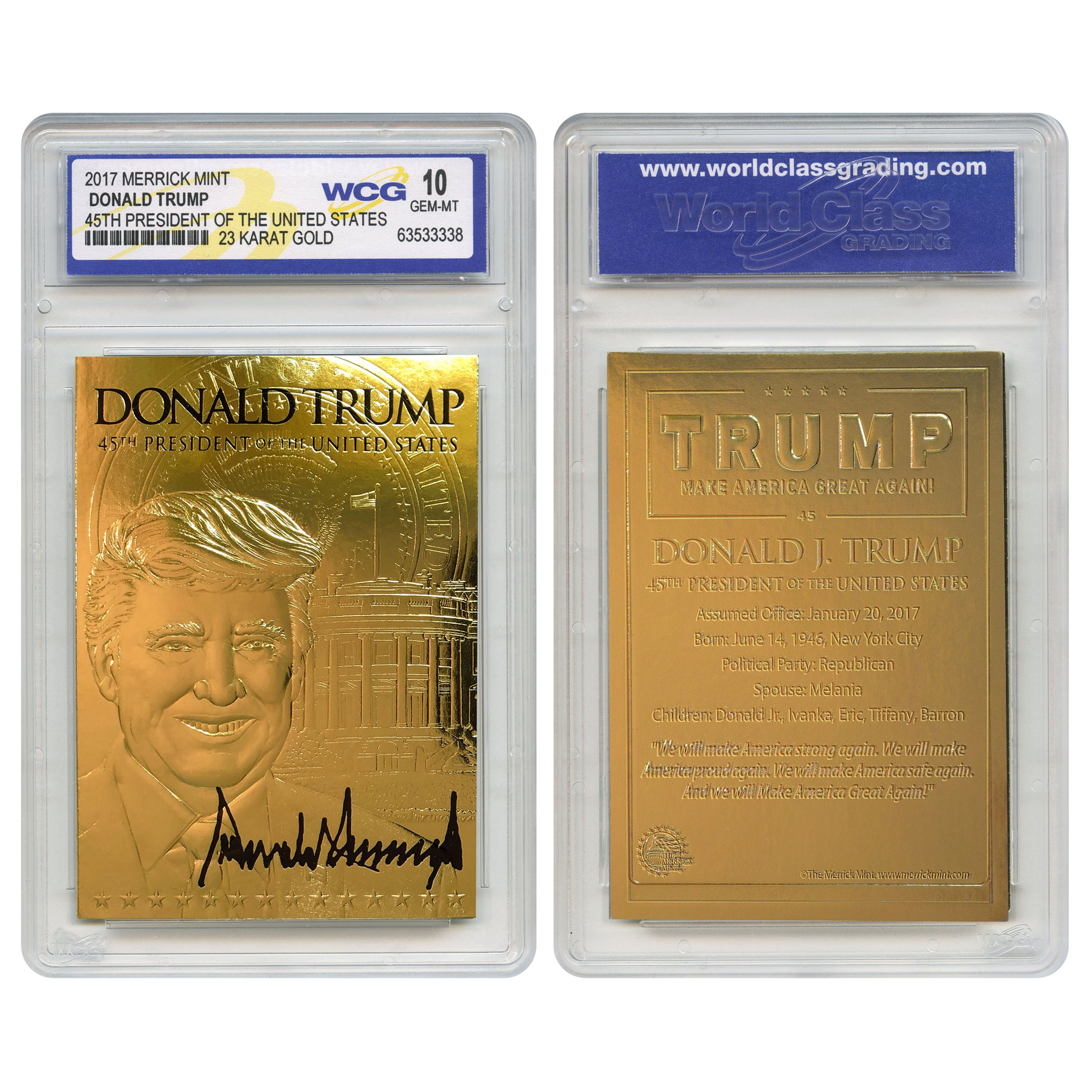 """Slabbed and Signed Trump 2020 Coin /""""Keep America Great!!/"""""""