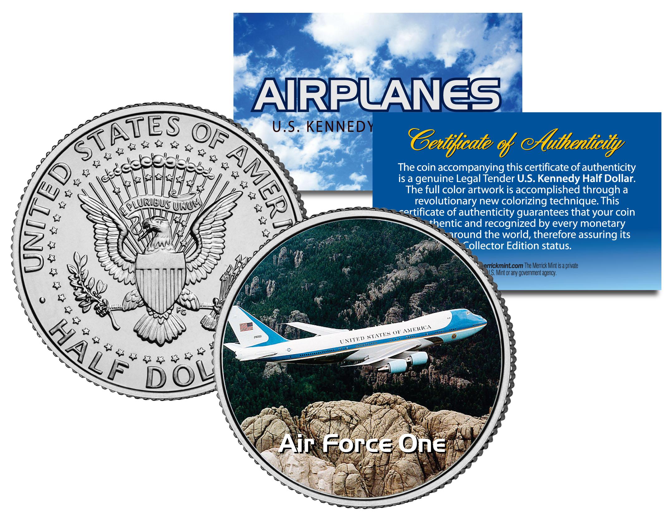 Airplane Series JFK Kennedy Half Dollar US Coin MESSERSCHMITT BF-109
