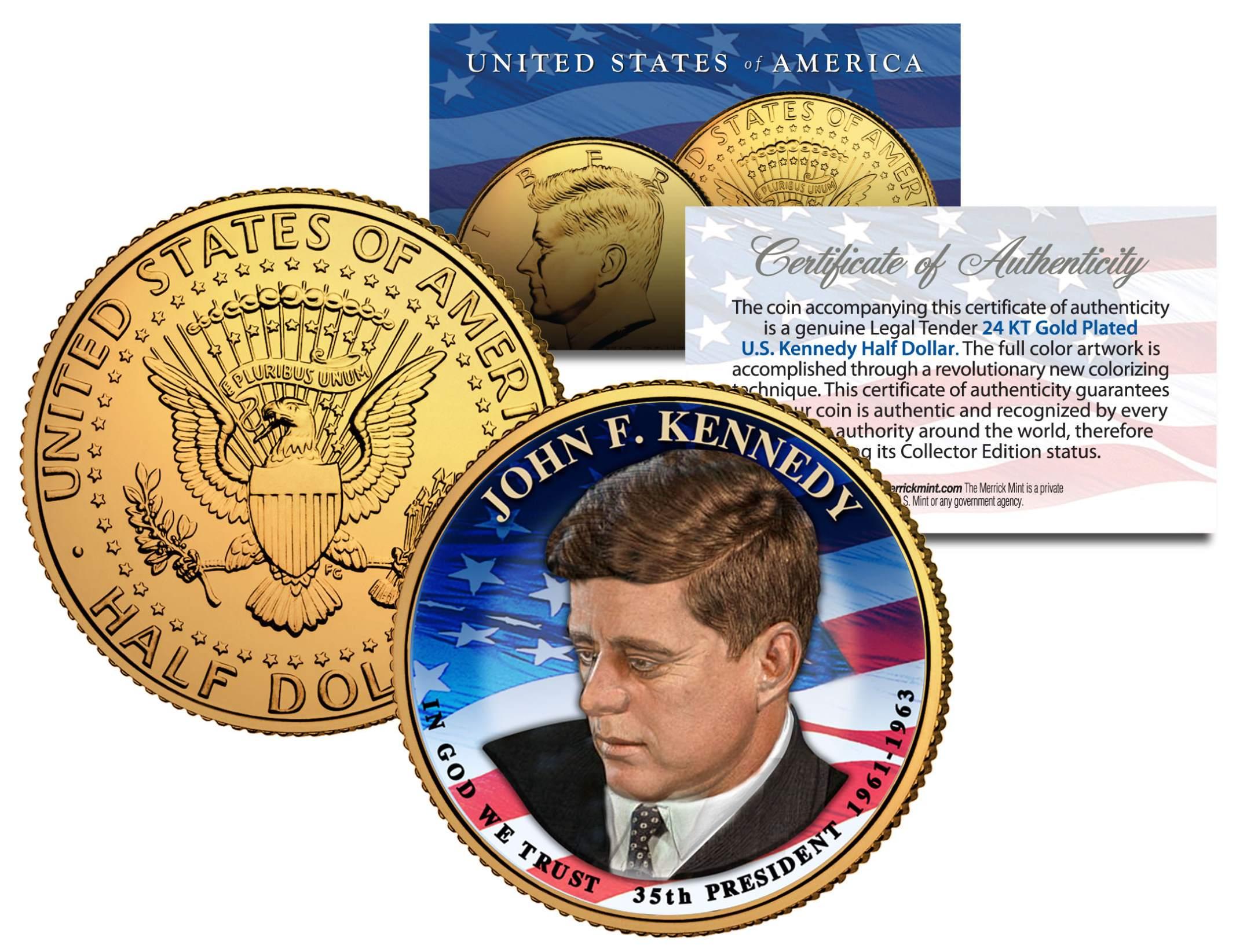 Presidential 1 John F Kennedy On 2015 Jfk Half Dollar U S