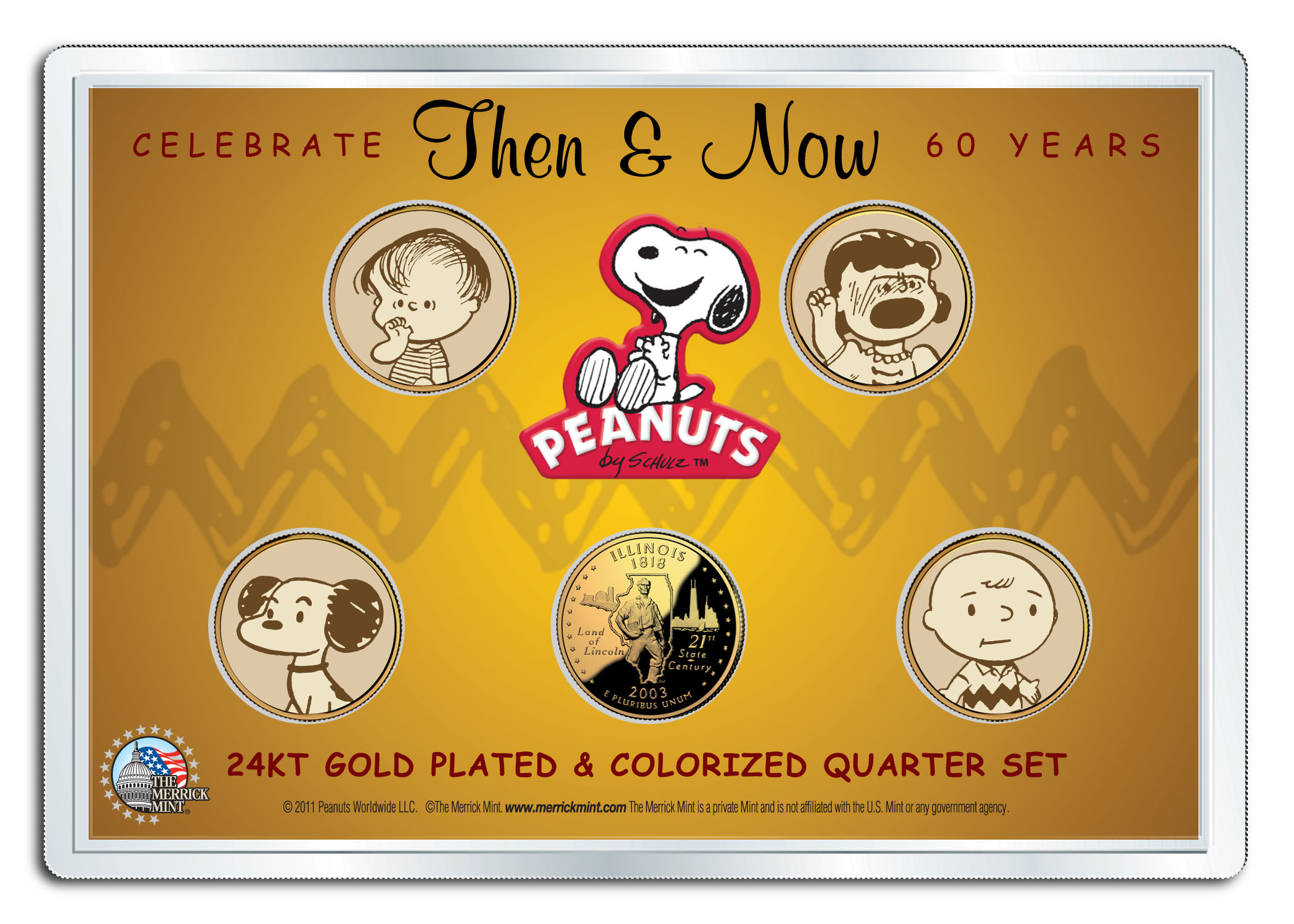 Betsy Ross Flag 1976 PEANUTS Charlie Brown 24K Gold Plated IKE Dollar US Coin