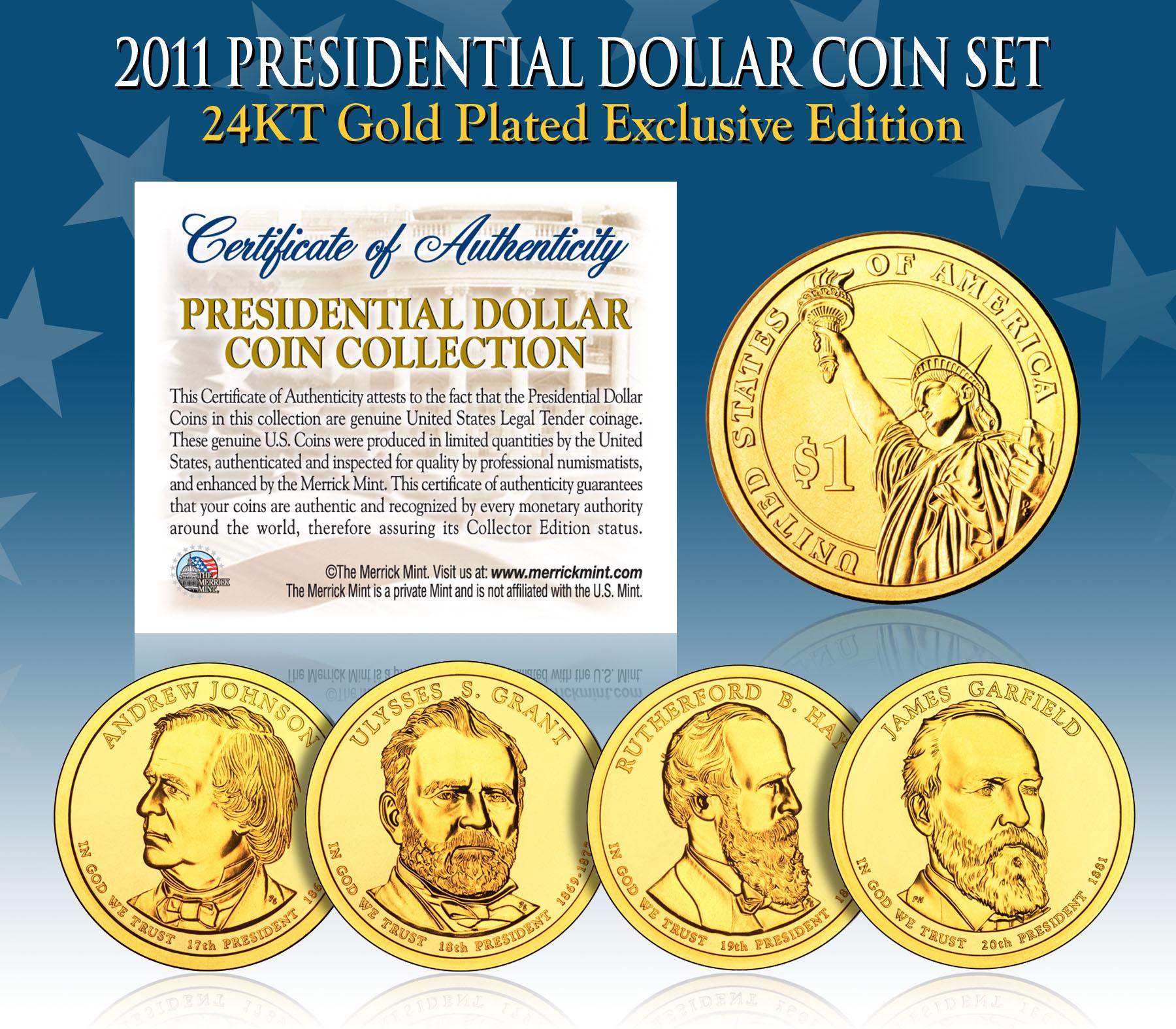 2011 PRESIDENTIAL DOLLAR PROOF SET