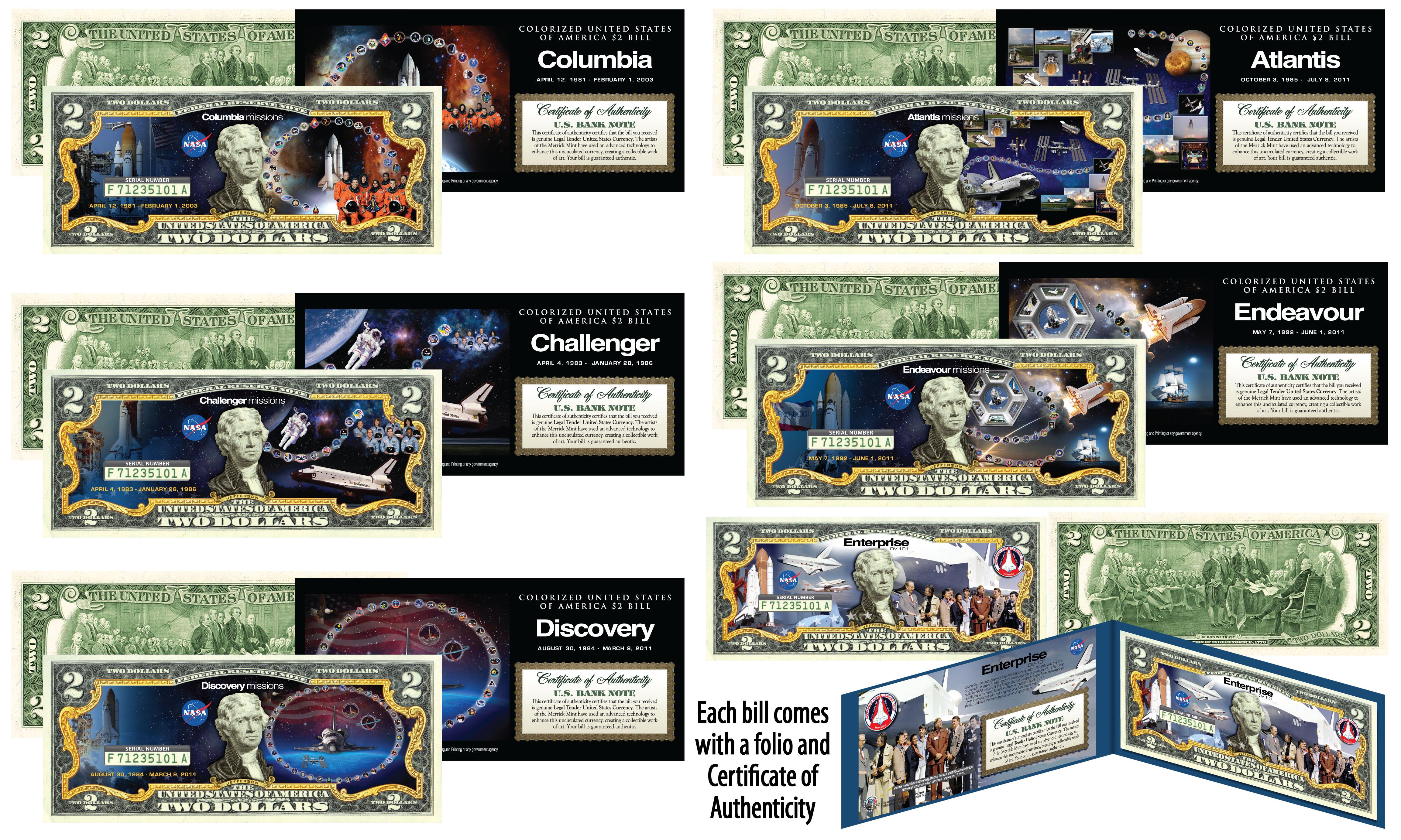 JAMES BUCHANAN President Colorized $2 Bill US Genuine Legal Tender 15th U.S