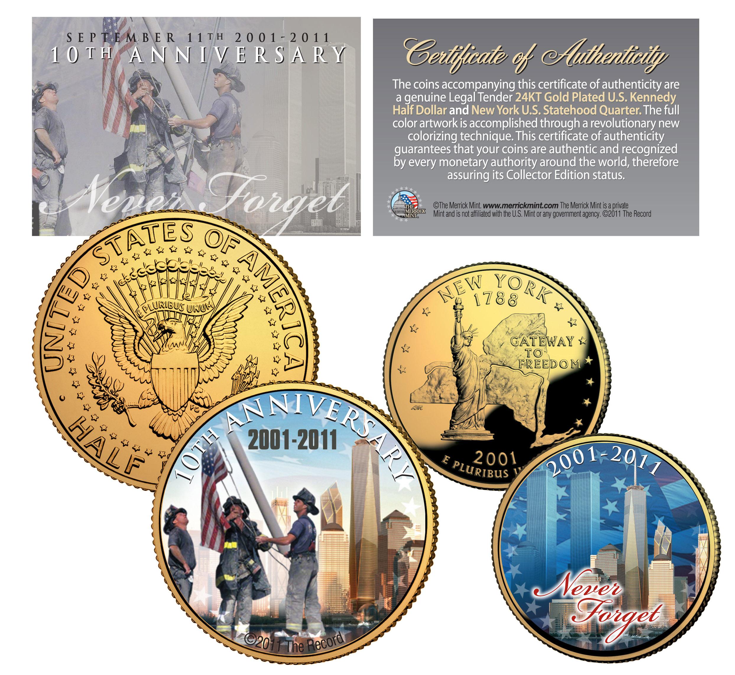 Colorized JFK Kennedy Half Dollar US 2-Coin Set 2014 CHRISTMAS PRINCE GEORGE