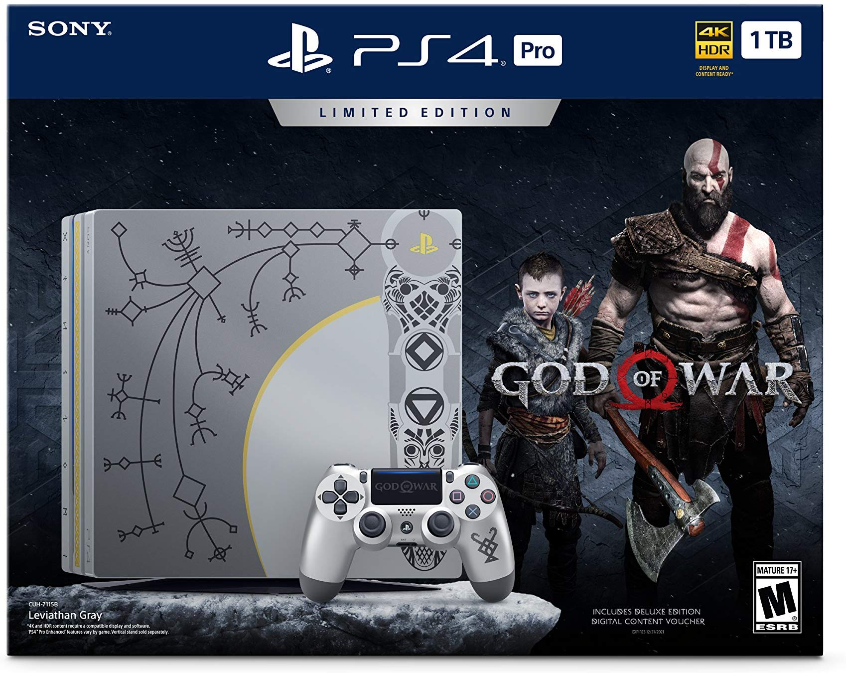 Sony PlayStation 4 Pro 1TB Limited Edition Console - God