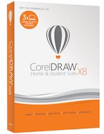 CorelDRAW Home and Student Suite X8 (3-Users)