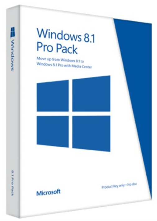 Microsoft Windows 8.1 Pro Pack (Win 8.1 to Win 8.1 Pro Upgrade)