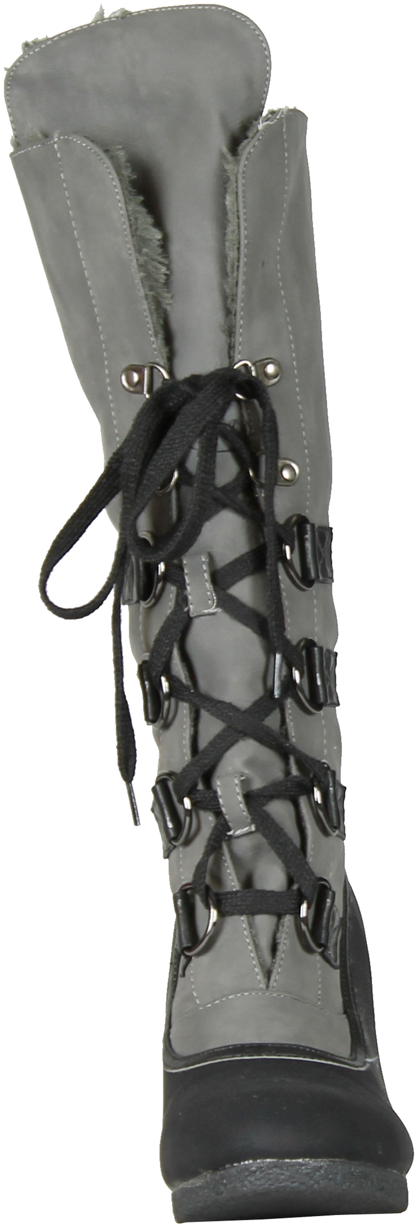 Gcny buena opción para Alaska Mujer Moda Con Cordones Cuña Botines De Alaska para e0f154
