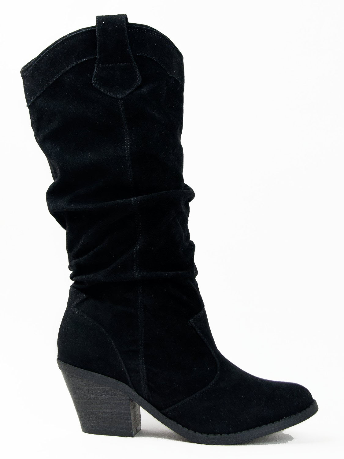 Qupid-MUSE-01-Western-Cowboy-Inspired-Slouchy-Mid-Calf-Knee-High-Stacked-Heel miniature 8