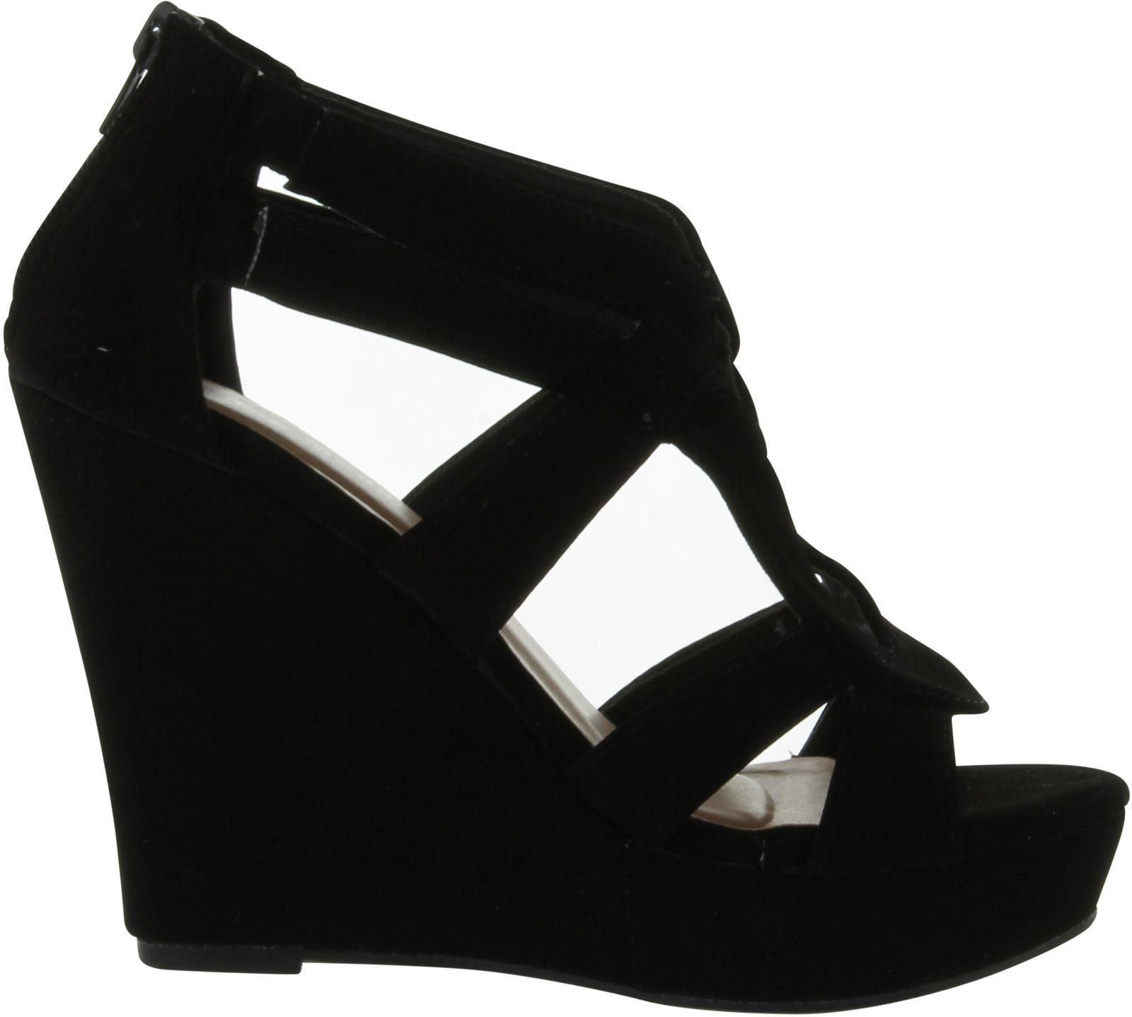 0d0c0ebbe8c7 Top Moda Womens Lindy-3 Wedge Sandals 9 B(m) US Black for sale ...