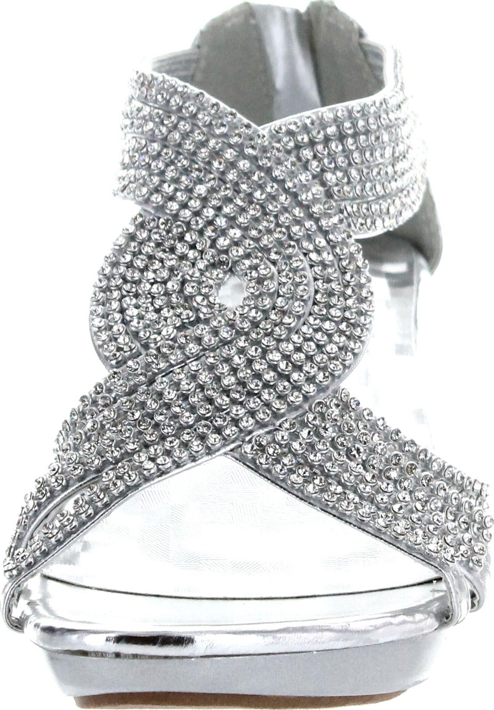 f3bff74a82dab8 Delicacy Womens Angel-37a Open Toe Med Heel Wedding Dress Sandal ...