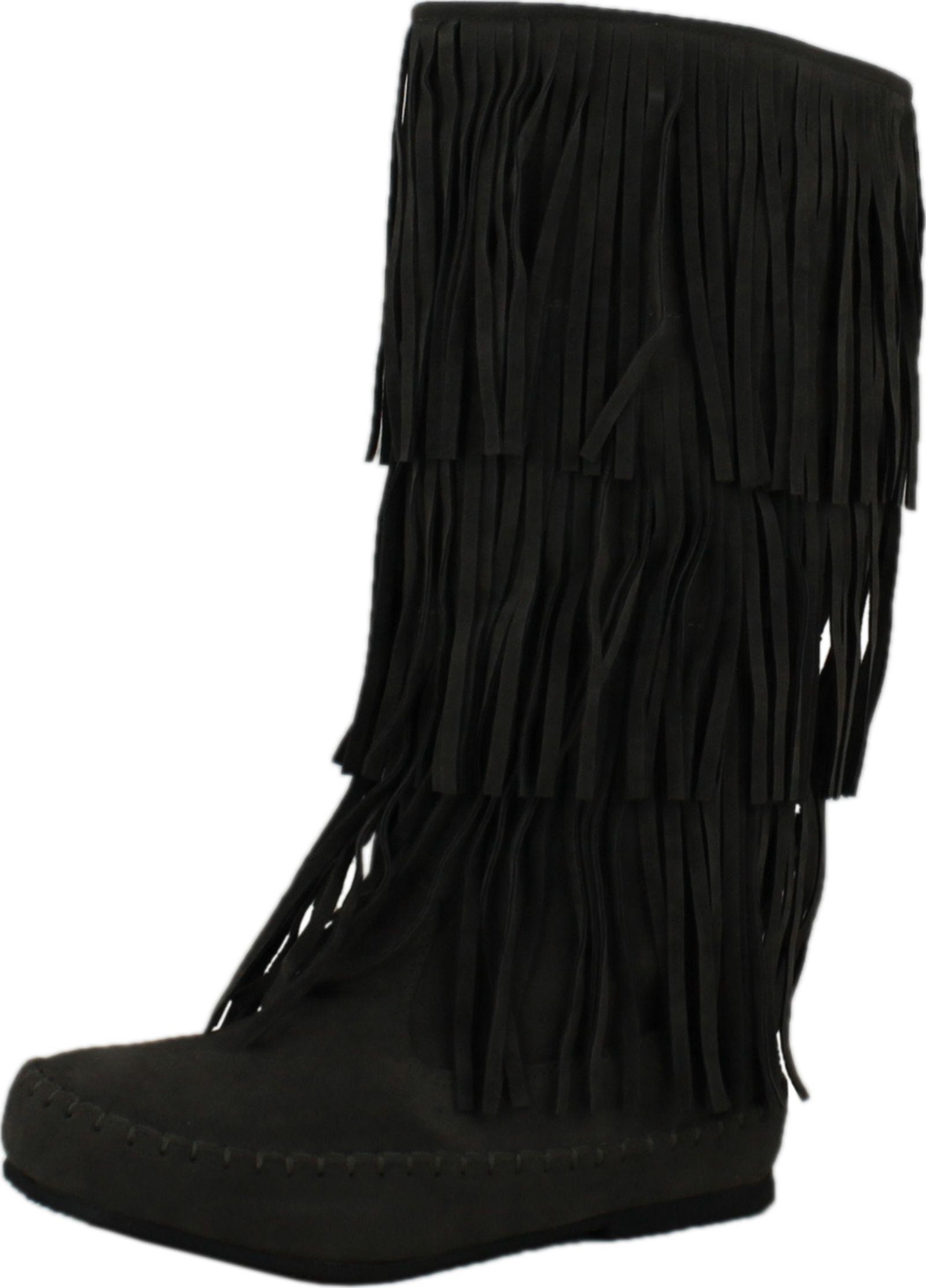 Pierre Dumas Damenschuhe Apache-4 Fringe Moccasin Fashion Stiefel