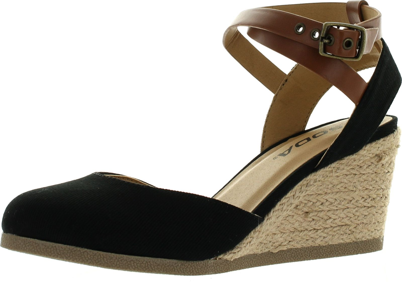 Soda Womens Request Closed Toe Espadrille Wedge Sandal In ... - photo#43