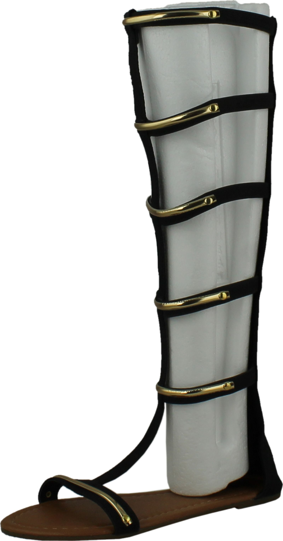 1c0fe24db2c Chatties Womens Gladiator Sandals Flats W multi Buckle Straps 6400 ...