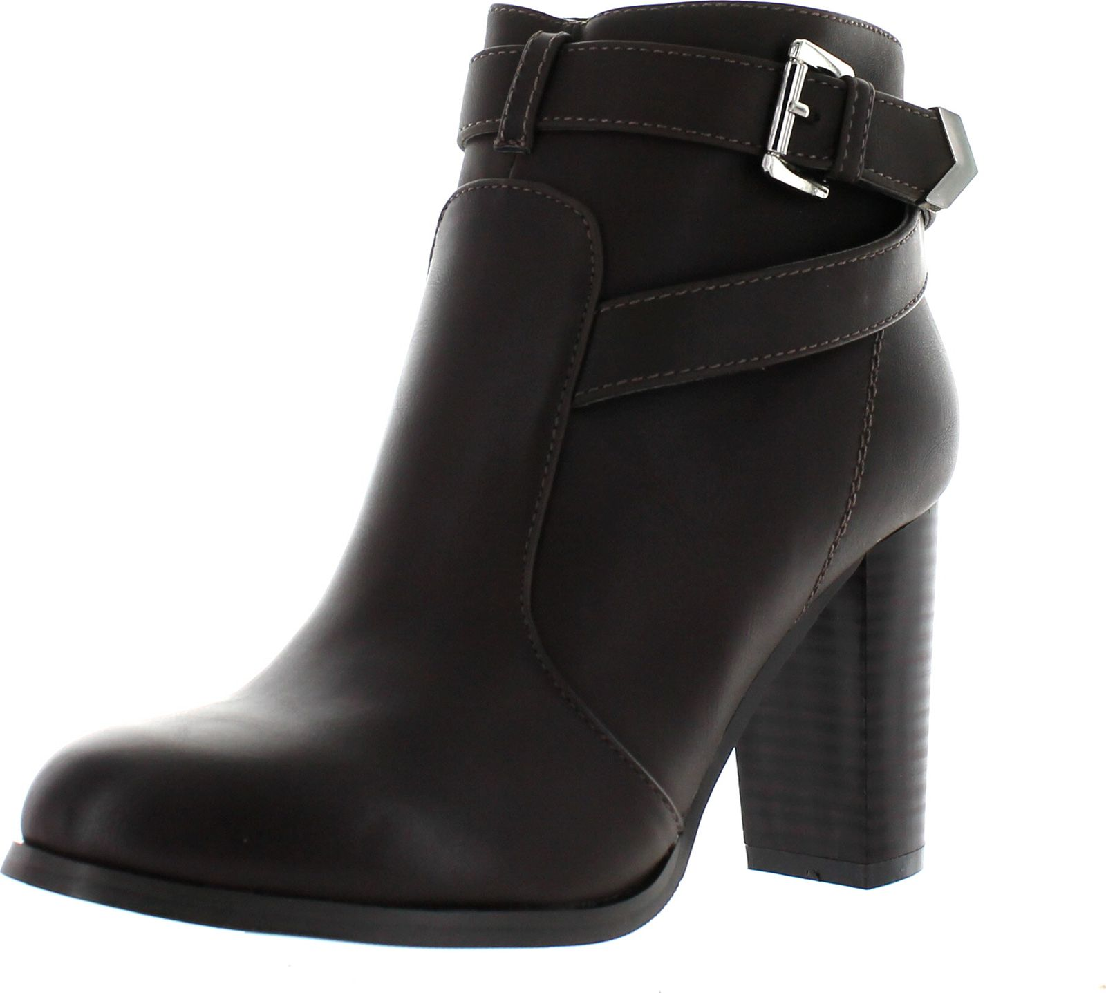 Kayla-83 Women's Stylish Stacked Chunky Heel Ankle Booties