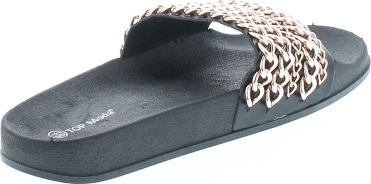 Top Moda Valerie 1 Women S Metallic Chain Link Flat Slide Sandal Flip Flop Ebay