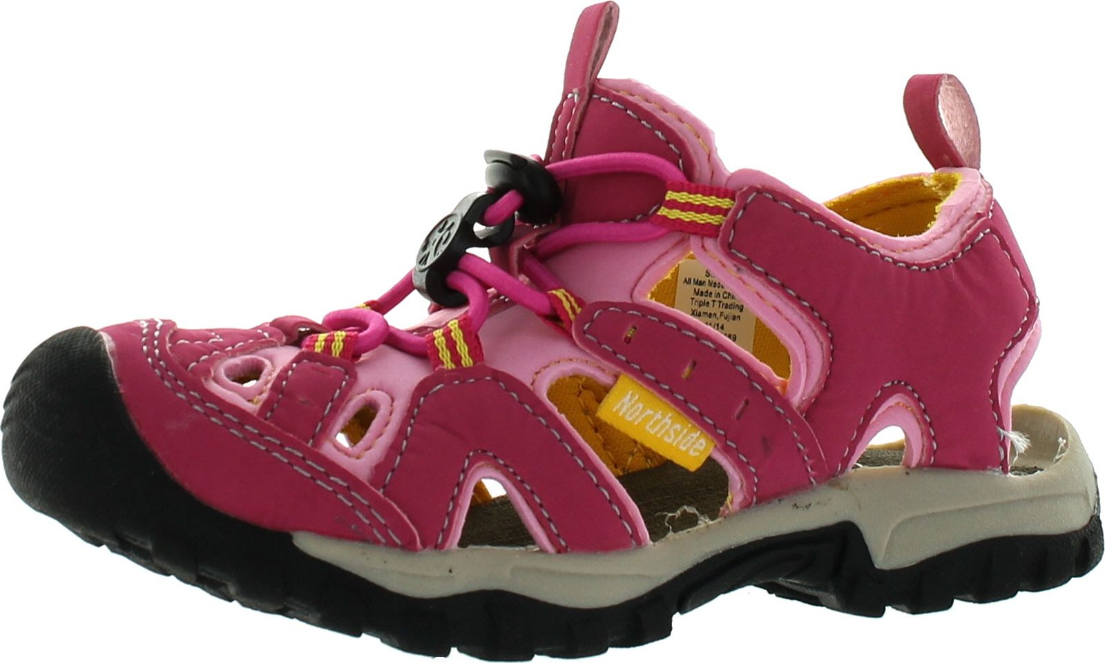 Burke II Athletic Sandal,Fuchsia/Yellow,4 M US Big Kid Northside