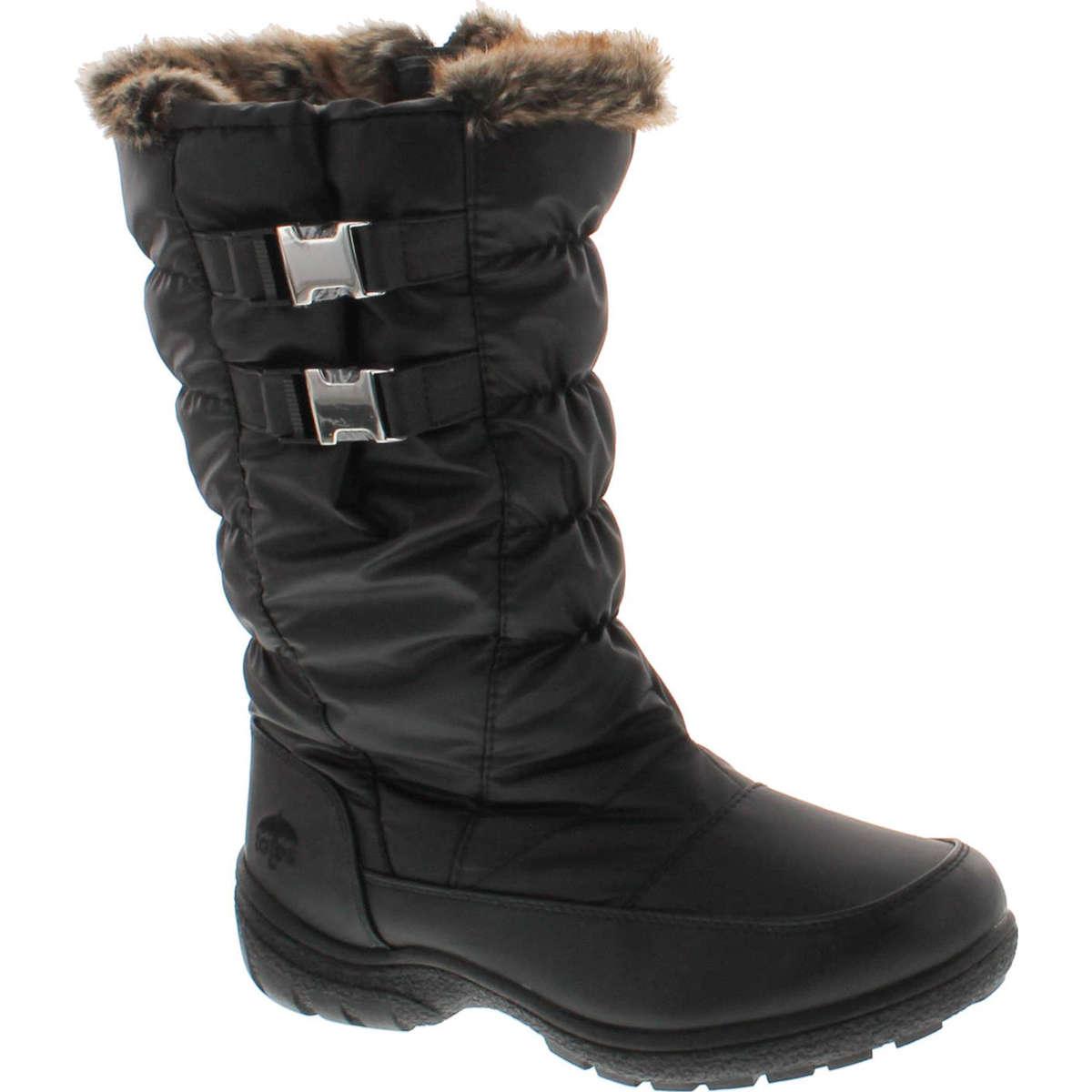 Totes Womens Bunny Waterproof Winter Snow Boots,Black,6 | eBay