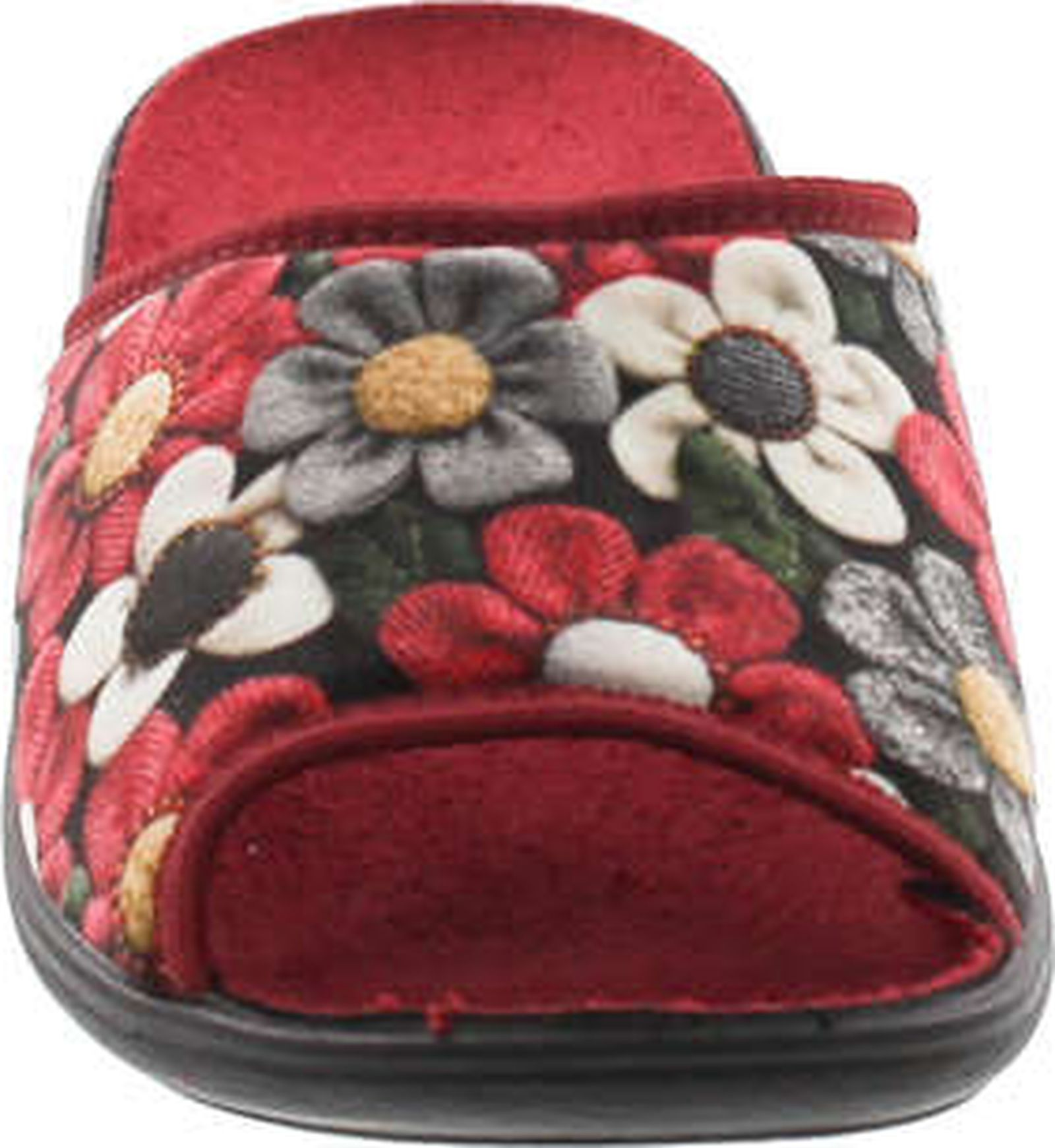 56b8a2f928 Sc Home Collection Womens 159 Open Toe Low Wedge Flower House Slippers Made  In Europe - ShoeCenter.com