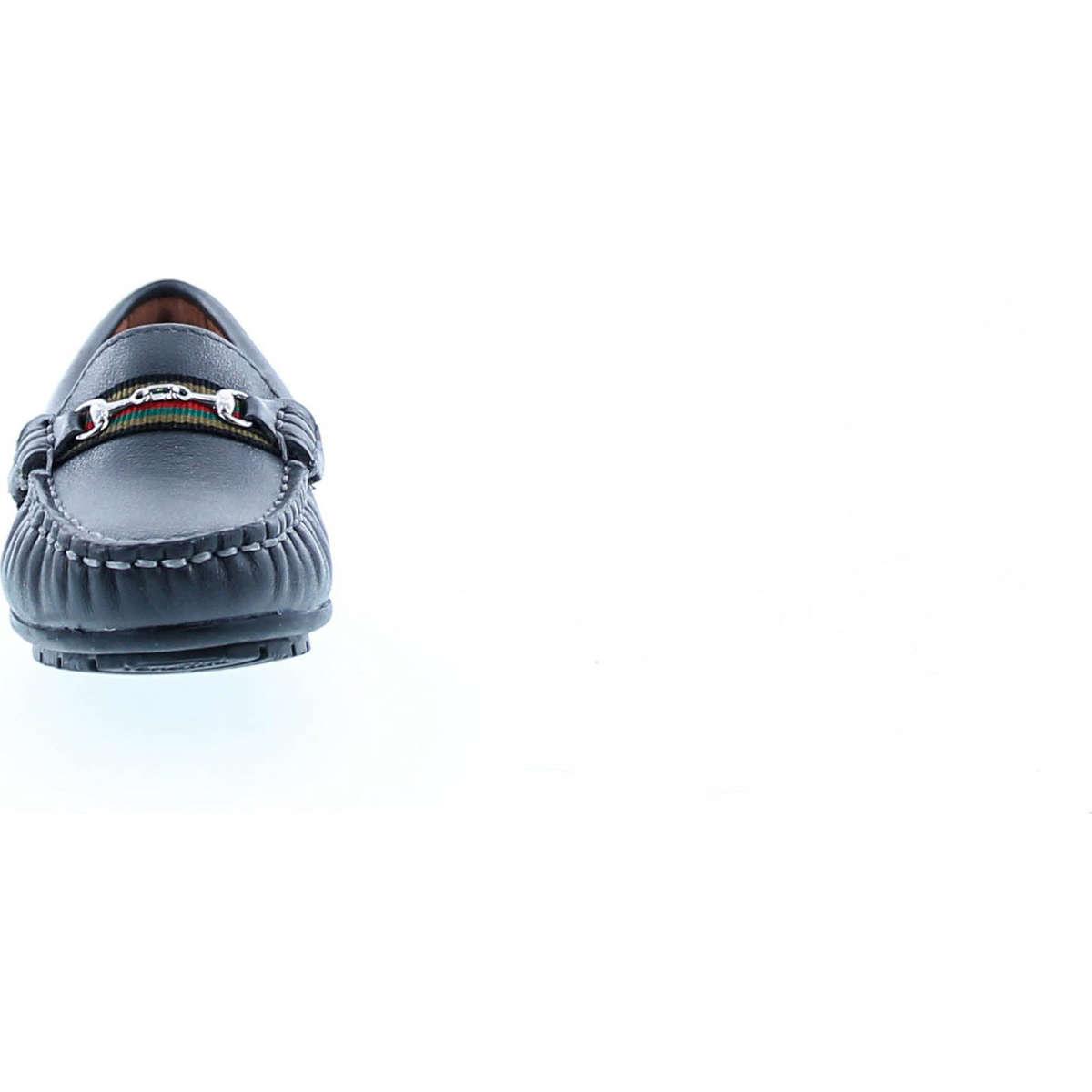 Venettini Boys 55-Toby Designer Buckle Slip On Casual Dress Loafers Shoes